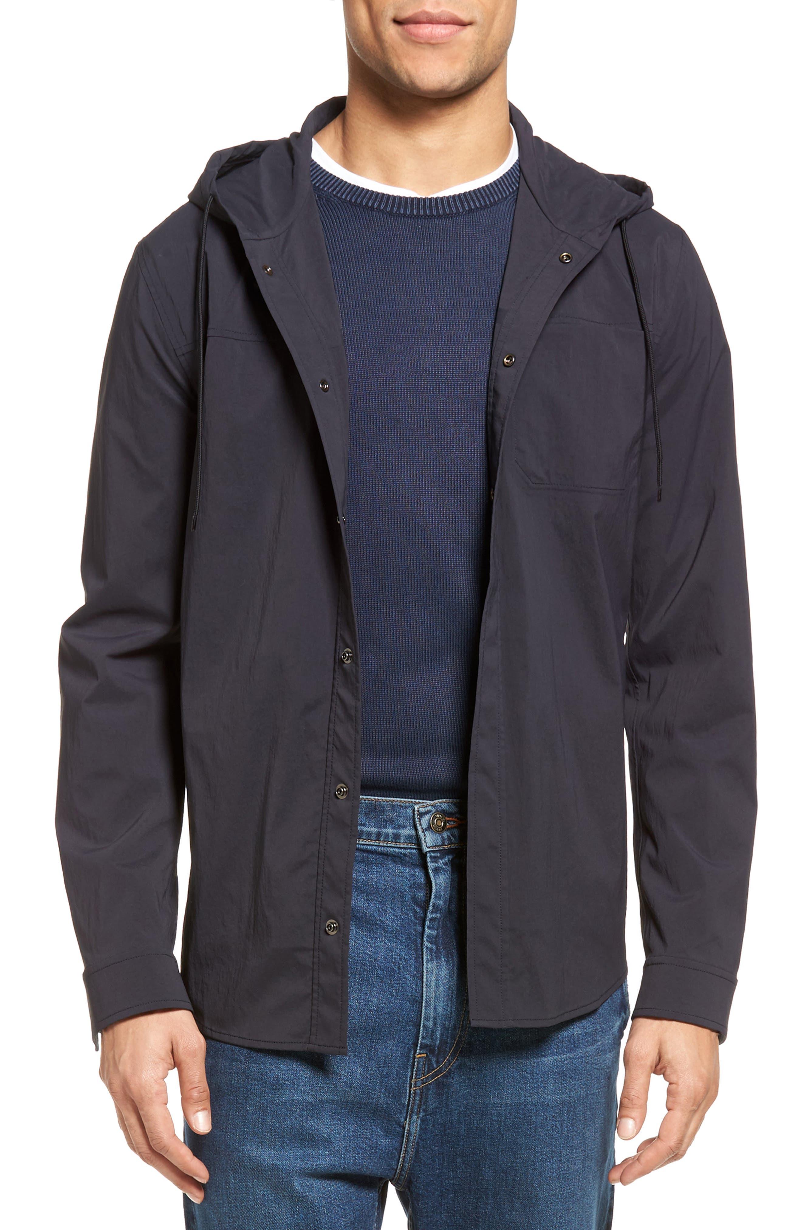 VINCE, Hooded Jacket, Main thumbnail 1, color, 403