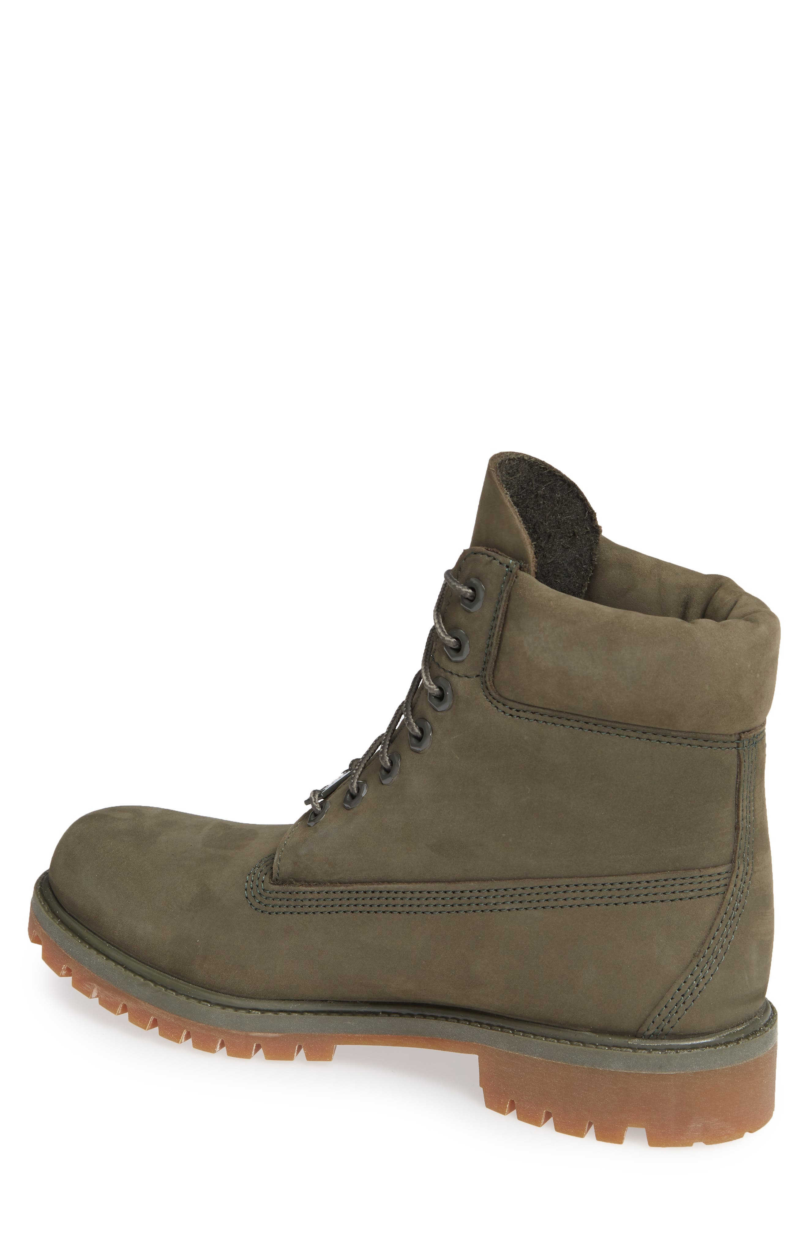 TIMBERLAND, Six Inch Classic Waterproof Boots Series - Premium Waterproof Boot, Alternate thumbnail 2, color, GRAPE LEAF LEATHER