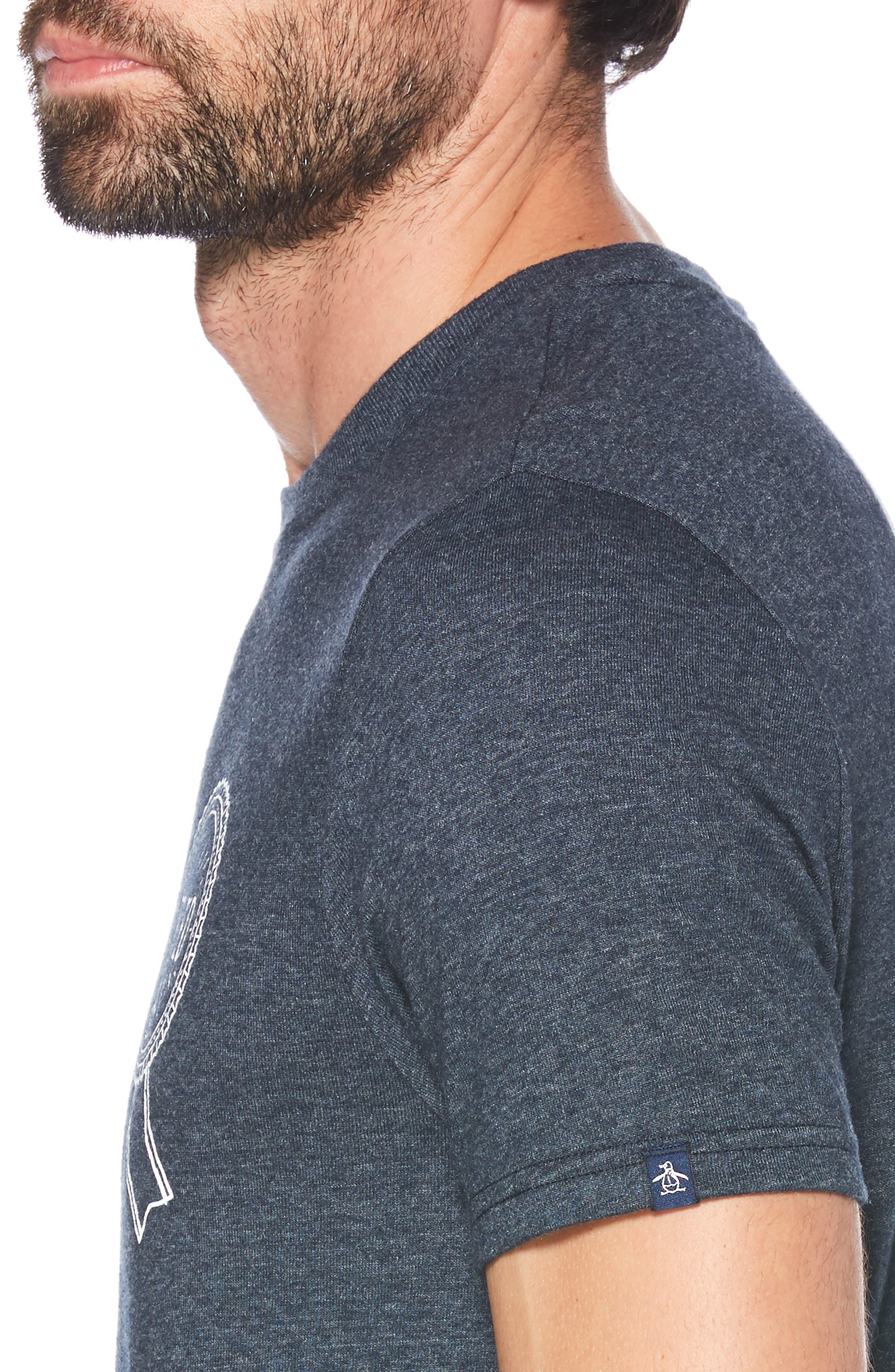 ORIGINAL PENGUIN, I Tried T-Shirt, Alternate thumbnail 3, color, DARK SAPPHIRE
