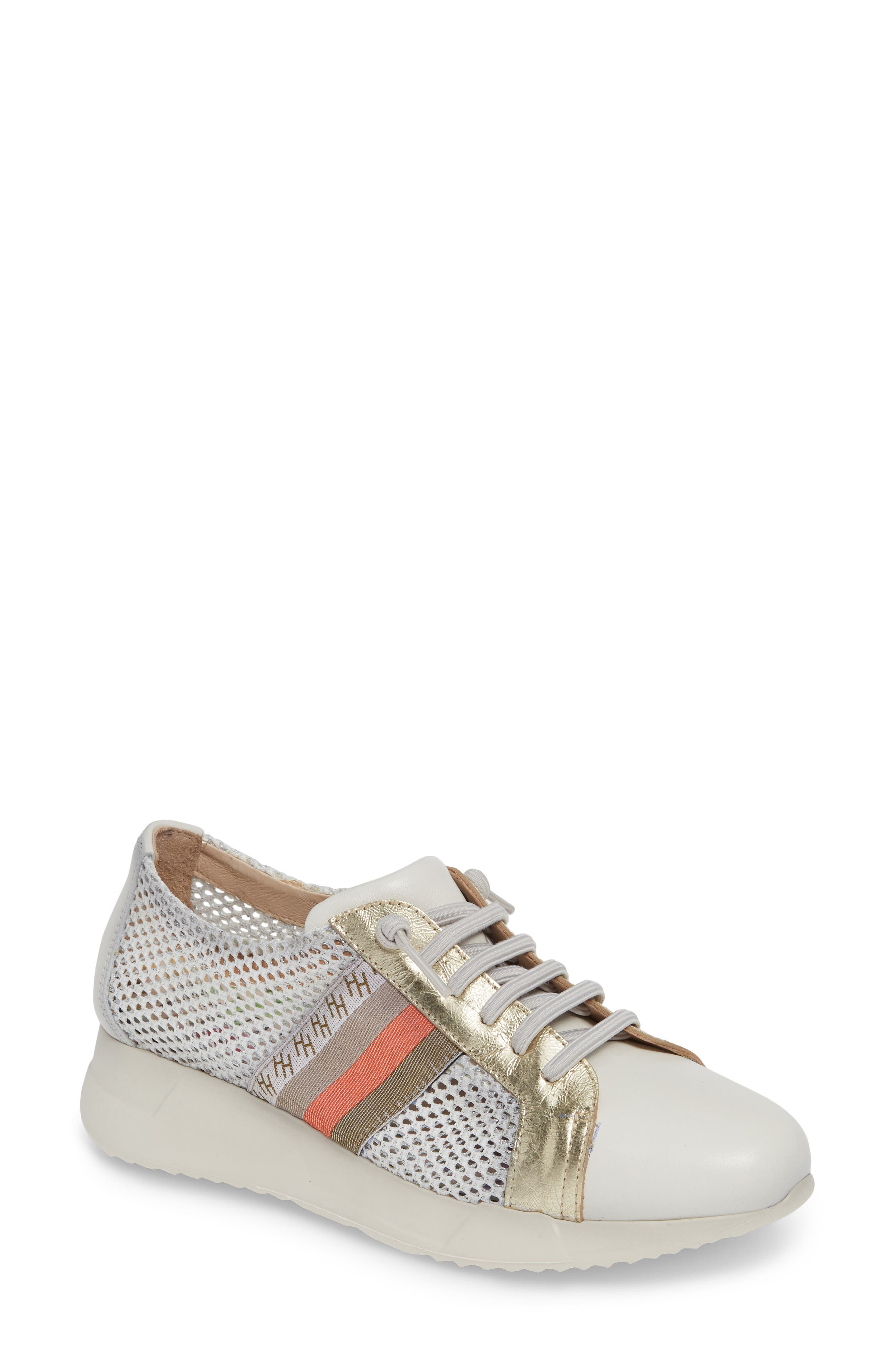 HISPANITAS Stephanie Platform Sneaker, Main, color, WHITE LEATHER