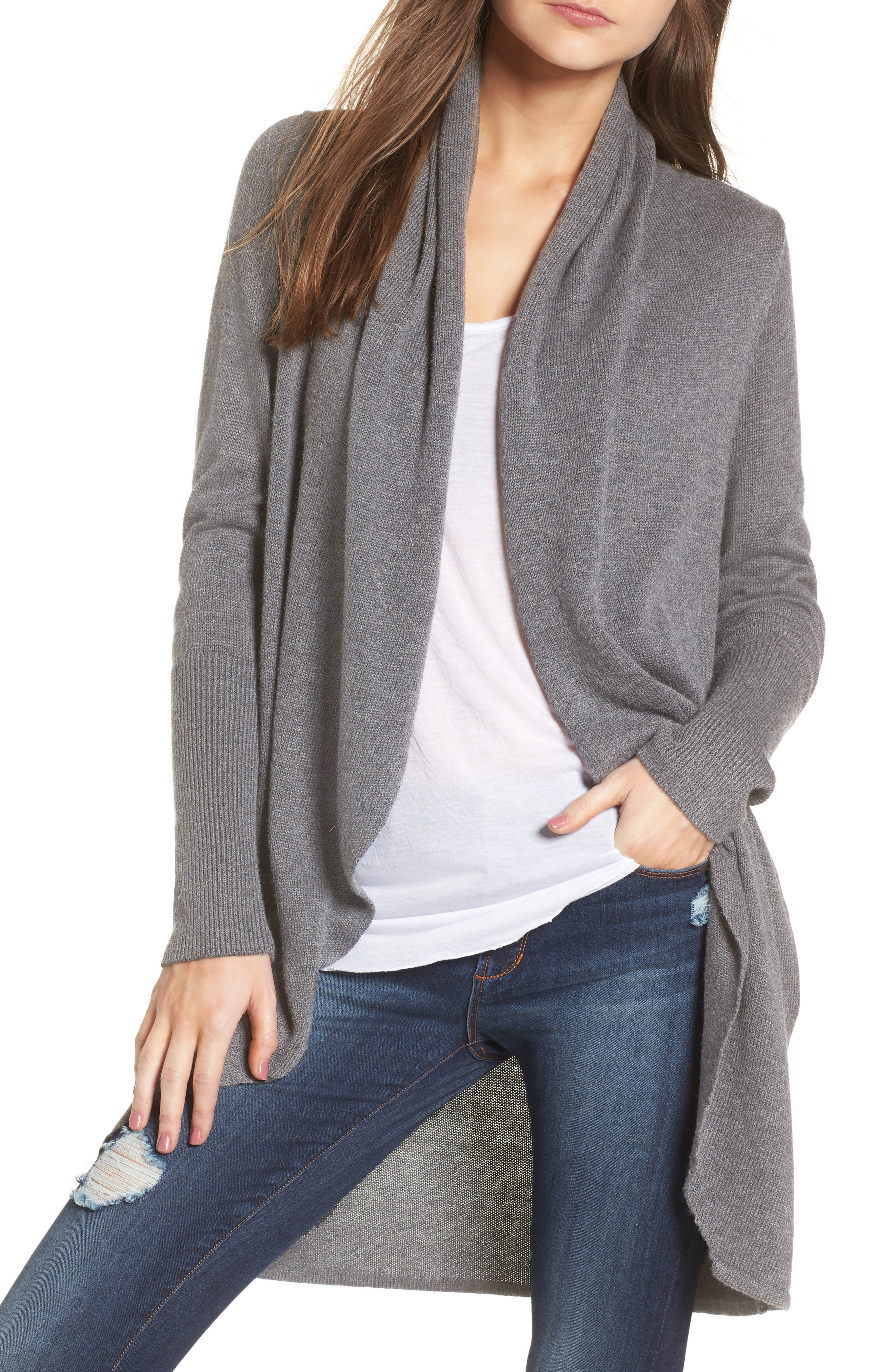 LEITH Easy Circle Cardigan, Main, color, 031