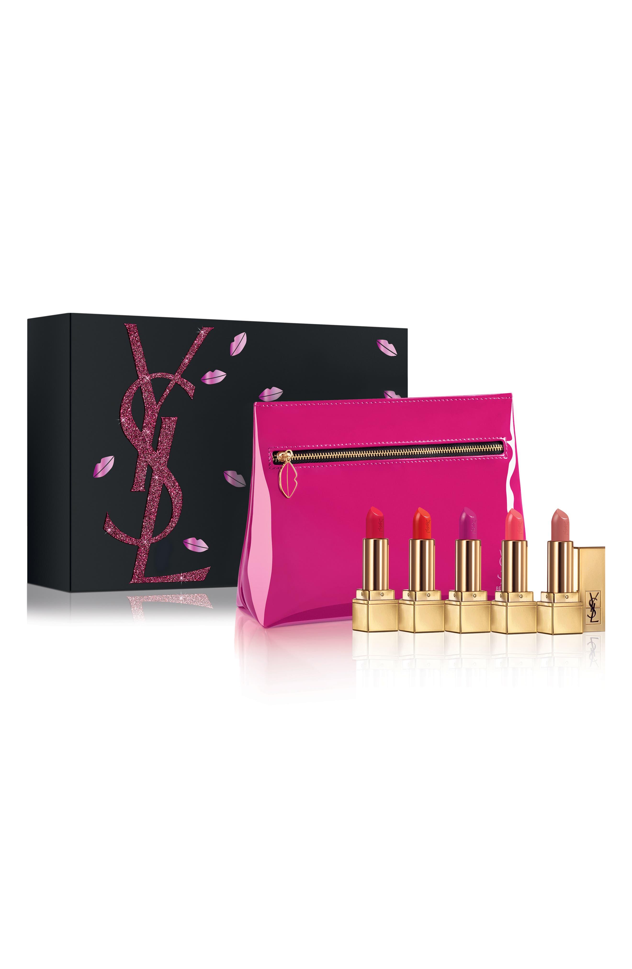 YVES SAINT LAURENT, Mini Rouge Pur Couture Lipstick Set, Main thumbnail 1, color, NO COLOR