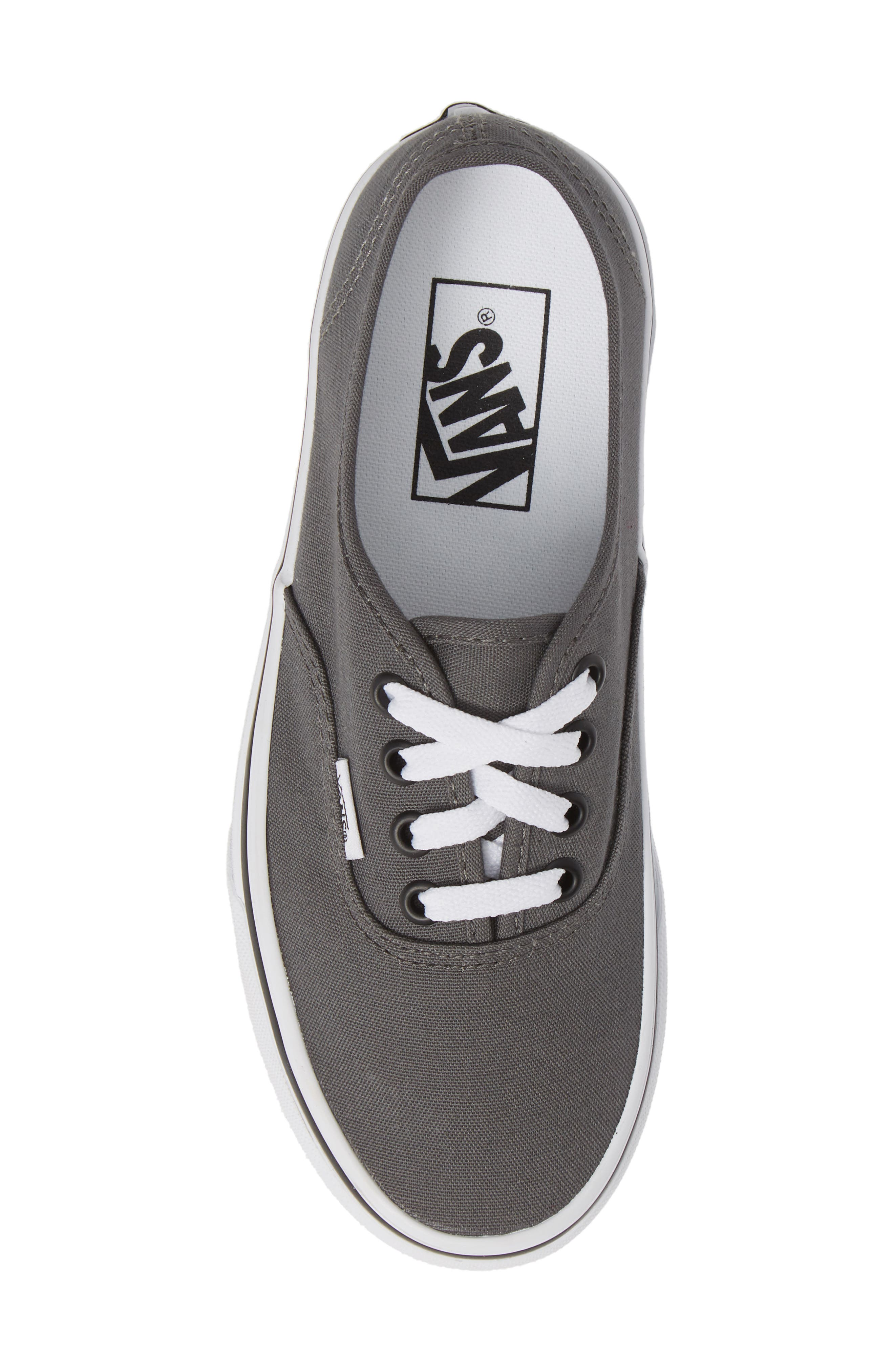 VANS, 'Authentic' Sneaker, Alternate thumbnail 6, color, PEWTER/BLACK
