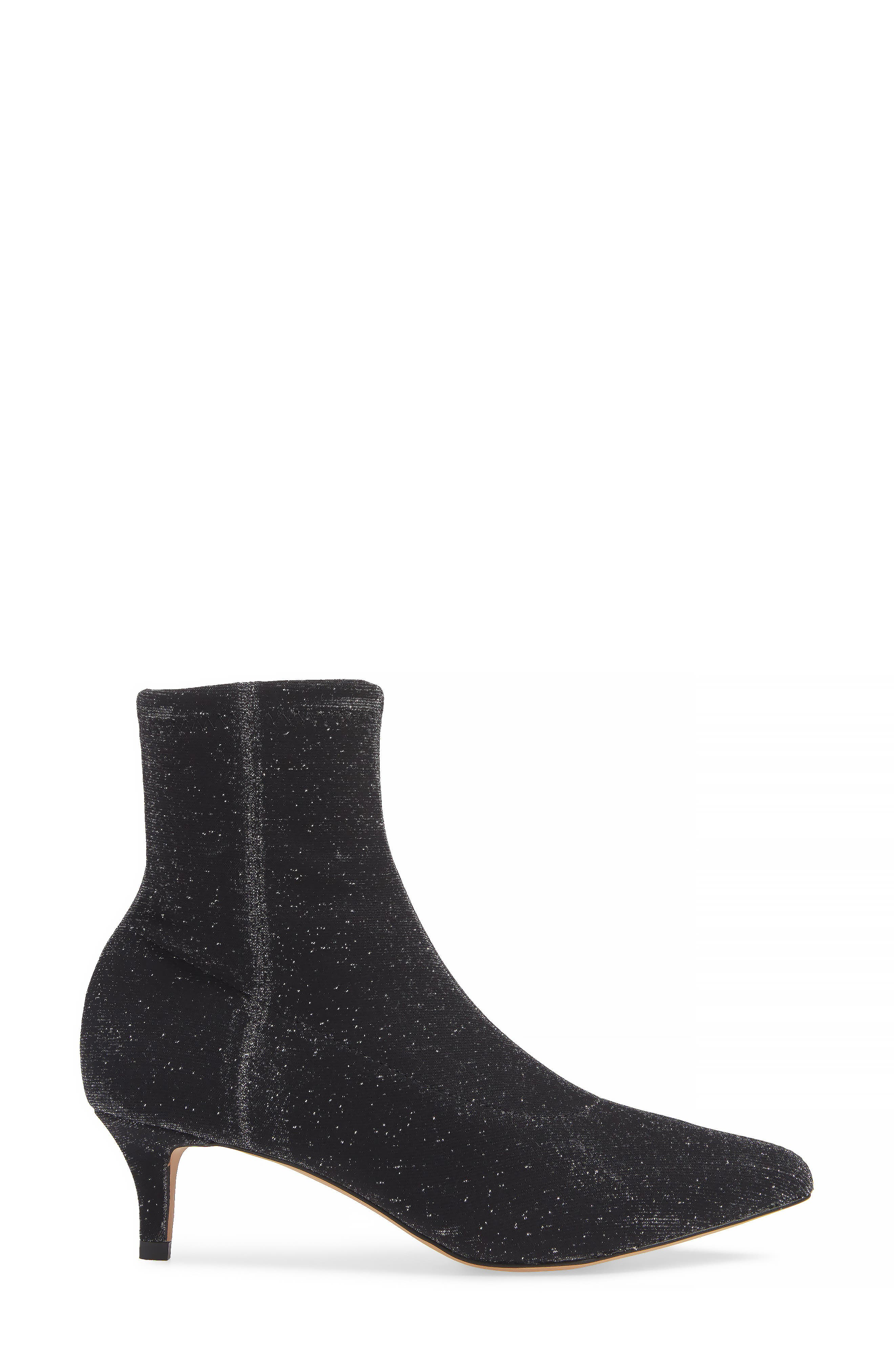 REBECCA MINKOFF, Sayres Bootie, Alternate thumbnail 3, color, BLACK FABRIC