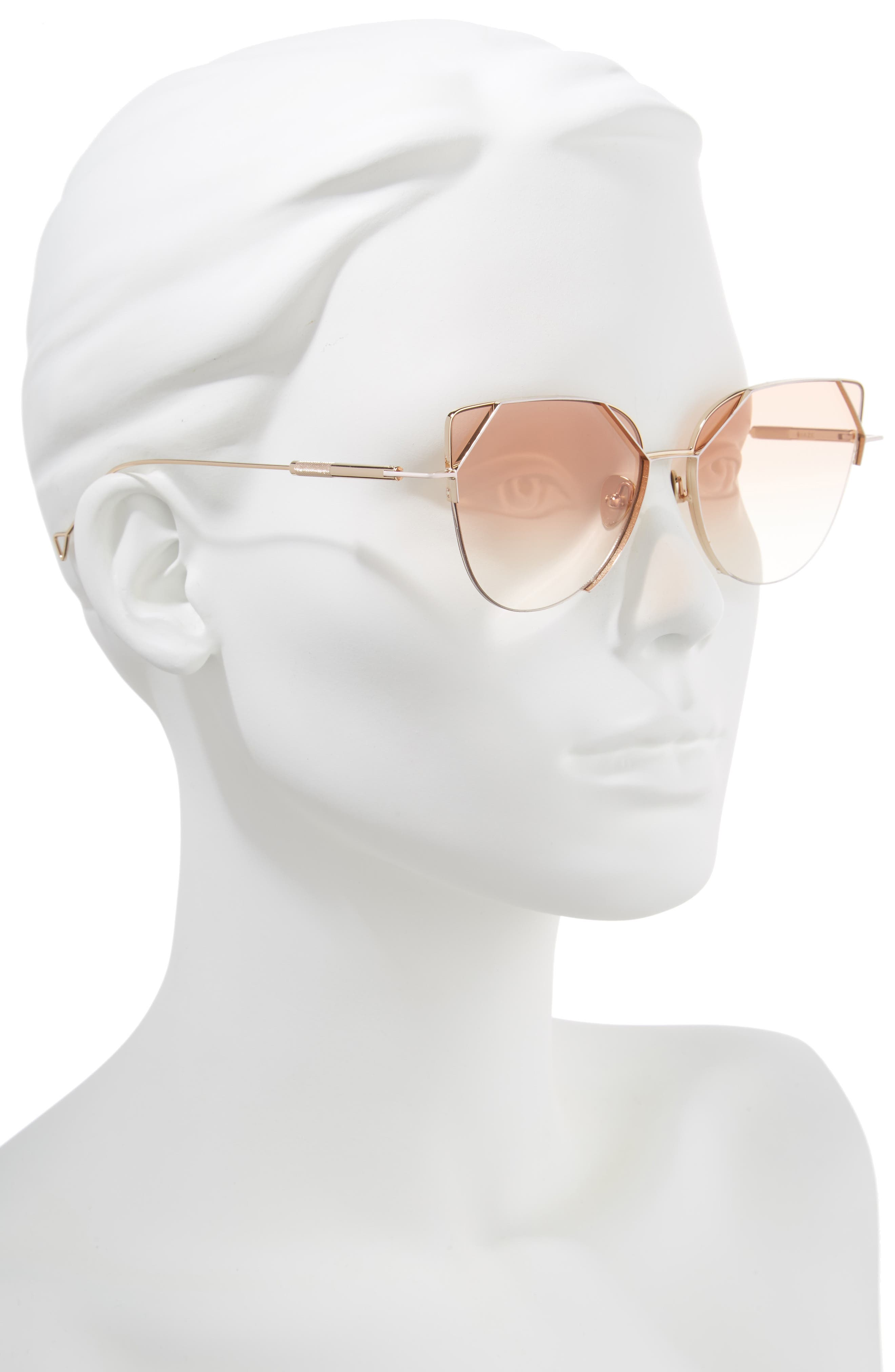 HAZE, The Schema 59mm Cat Eye Sunglasses, Alternate thumbnail 2, color, NUDE