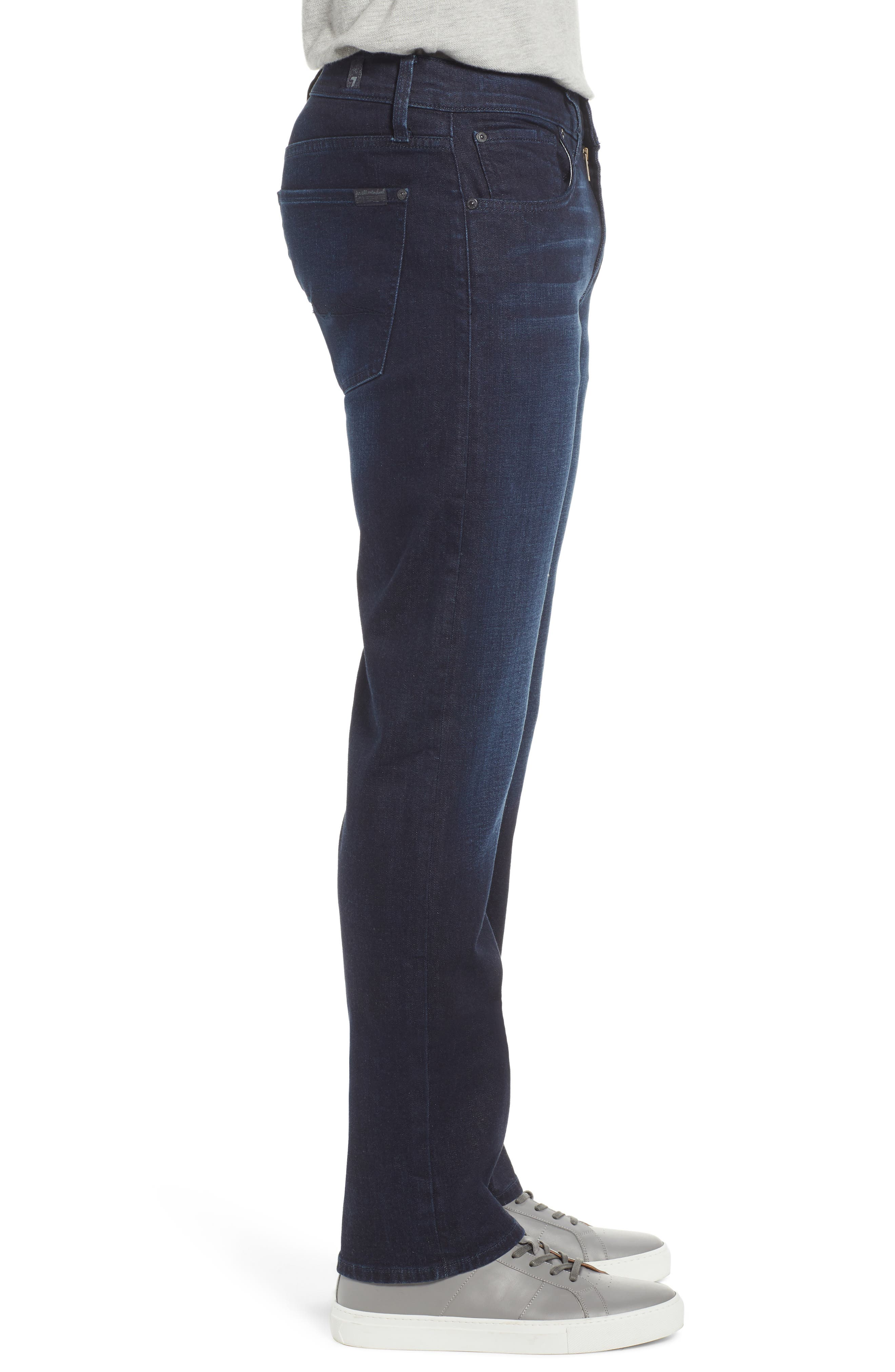 7 FOR ALL MANKIND<SUP>®</SUP>, Carson Straight Fit Jeans, Alternate thumbnail 4, color, RICHFIELD
