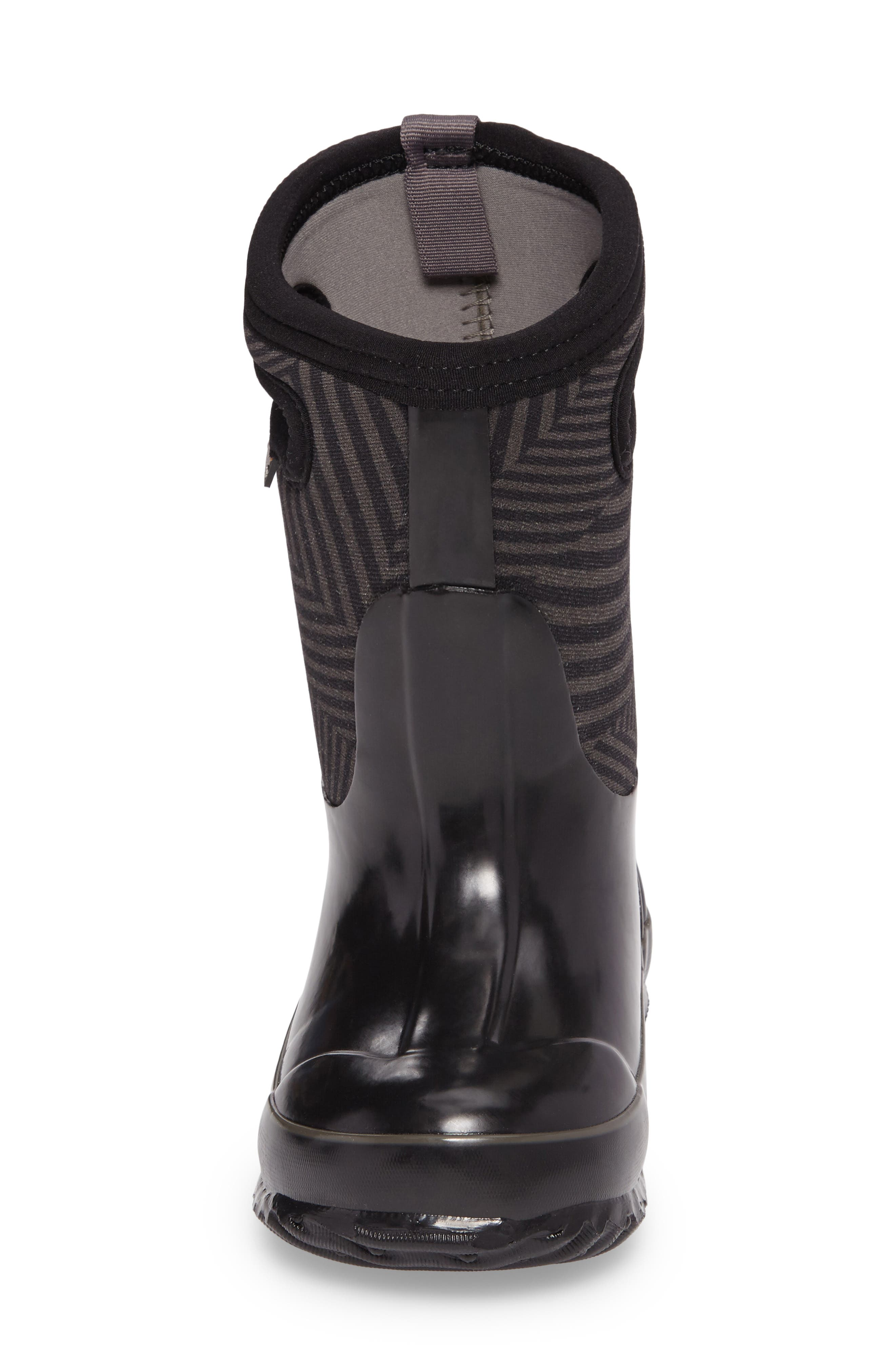 BOGS, Classic Phaser Insulated Waterproof Boot, Alternate thumbnail 4, color, BLACK MULTI