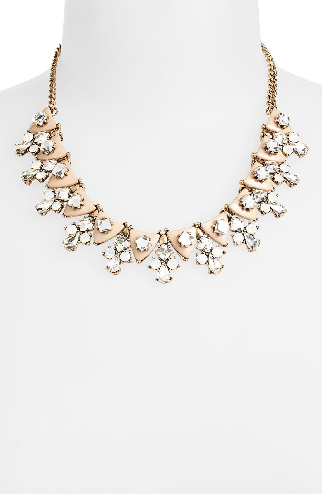 SOLE SOCIETY, 'Dainty' Statement Necklace, Alternate thumbnail 2, color, 650
