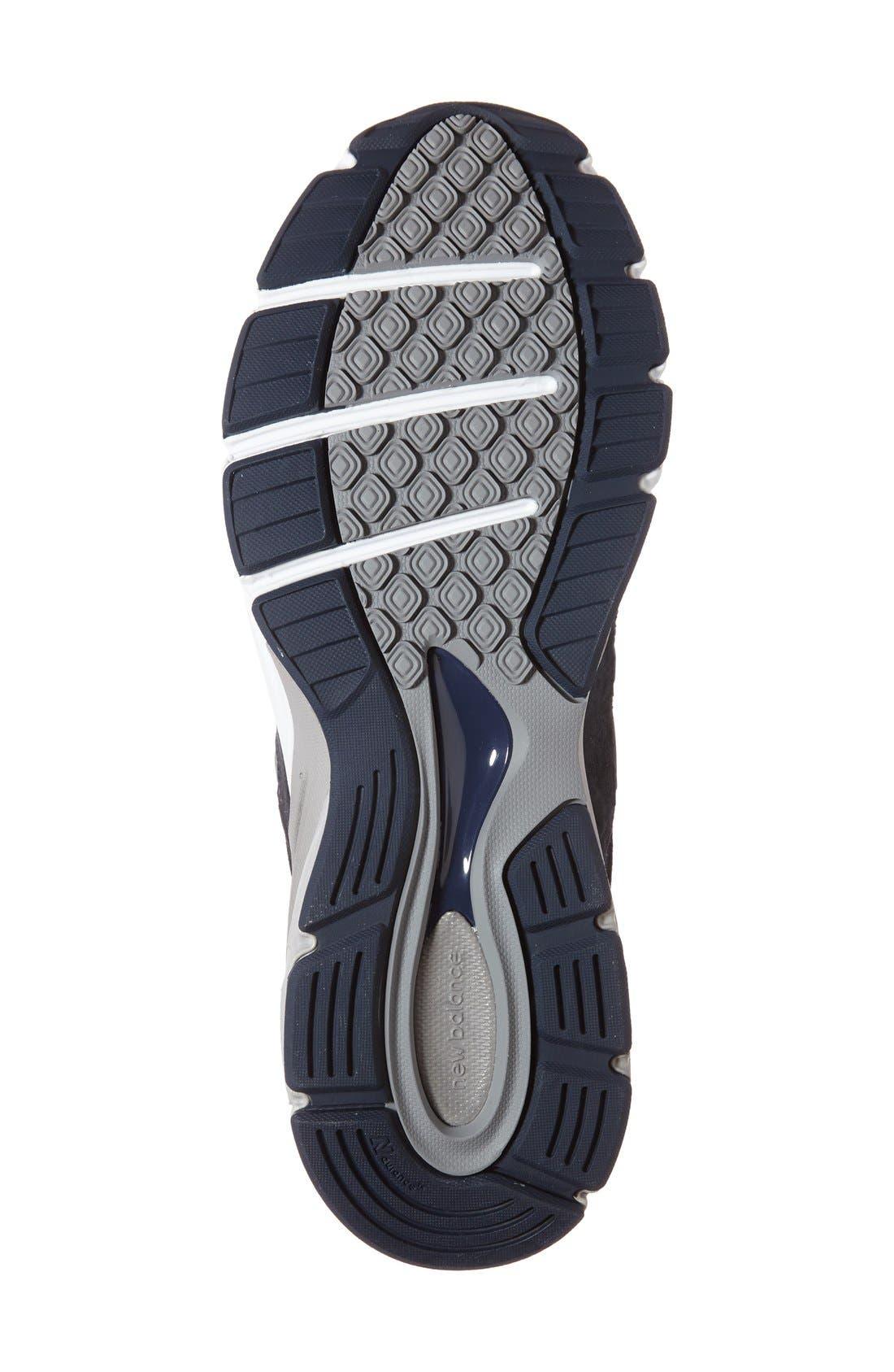 NEW BALANCE, '990' Running Shoe, Alternate thumbnail 4, color, NAVY