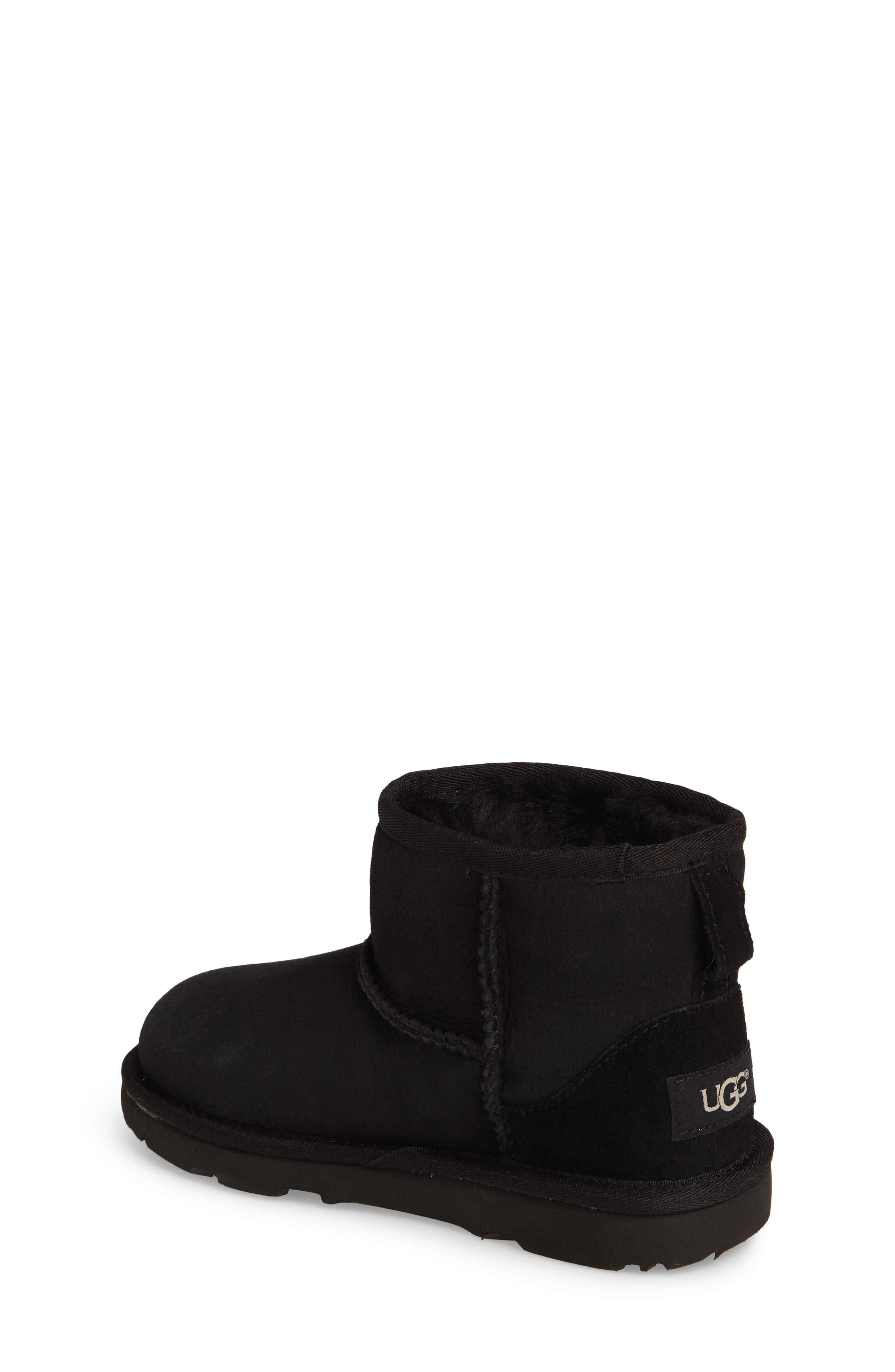 UGG<SUP>®</SUP>, Classic Mini II Water-Resistant Genuine Shearling Boot, Alternate thumbnail 2, color, BLACK