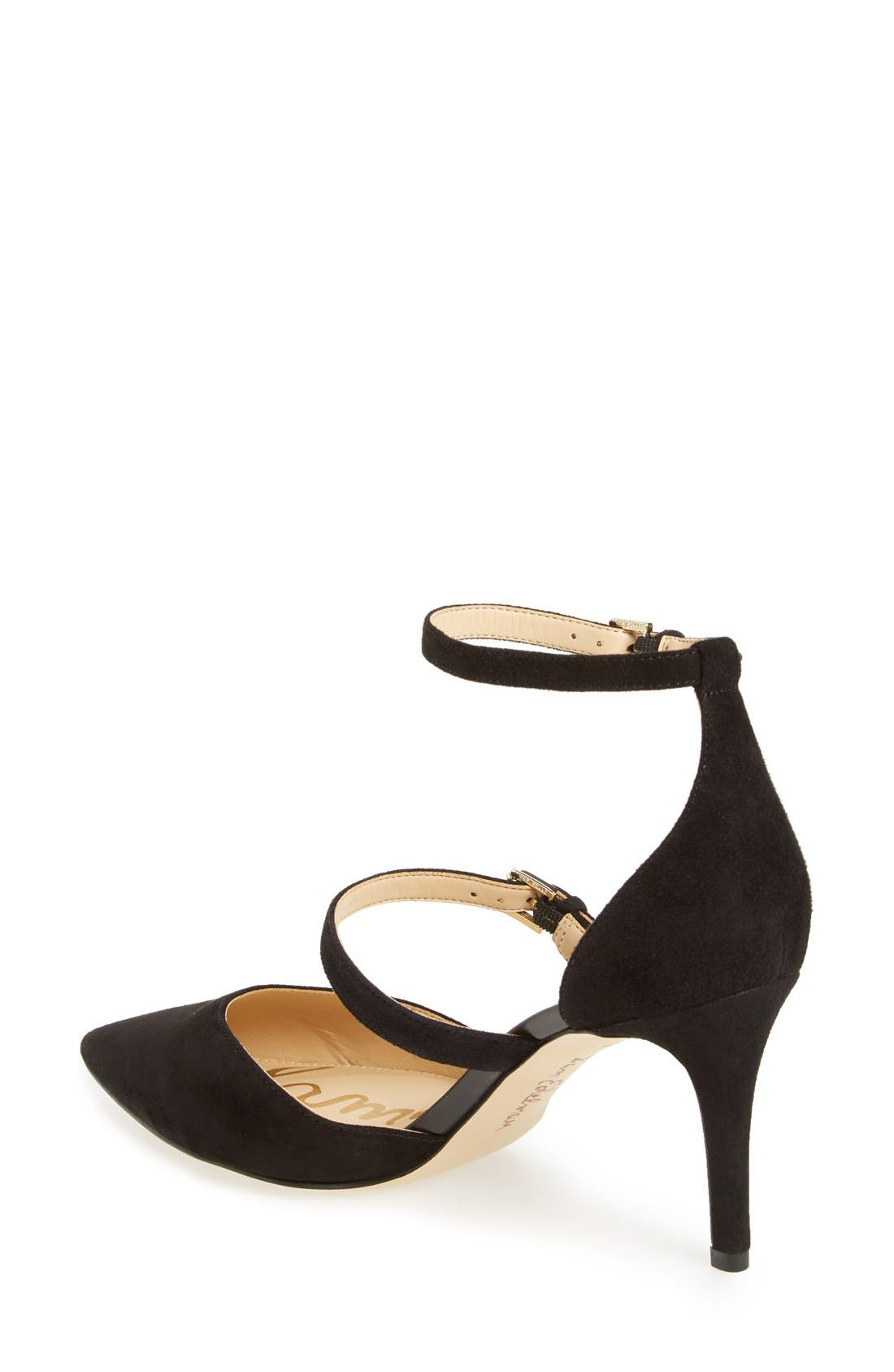 SAM EDELMAN, 'Thea' Strappy Pump, Alternate thumbnail 2, color, 001