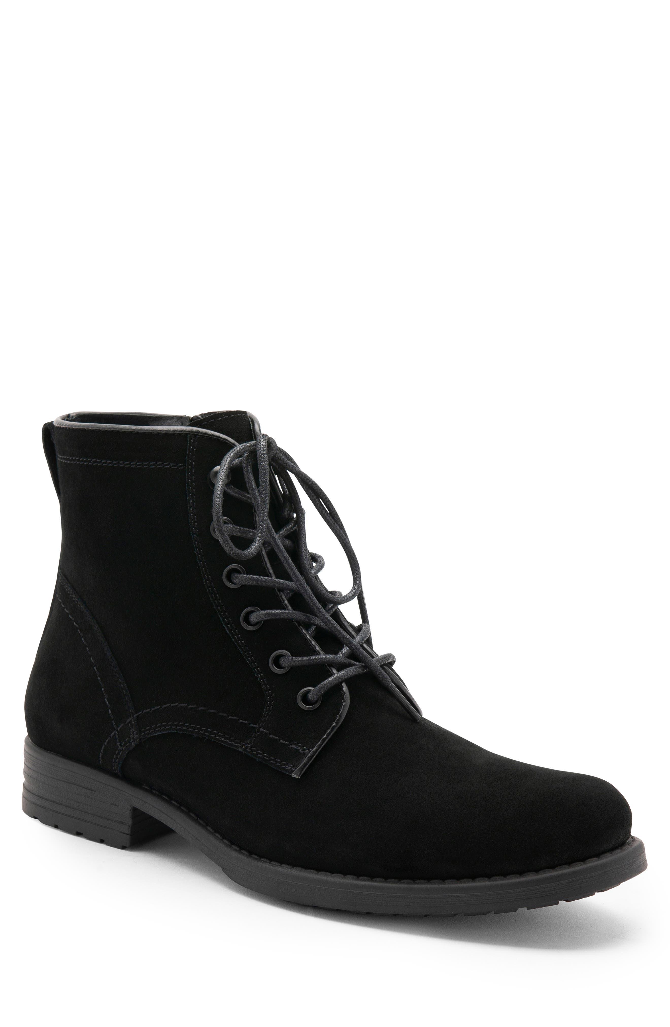BLONDO Peter Waterproof Plain Toe Boot, Main, color, BLACK SUEDE