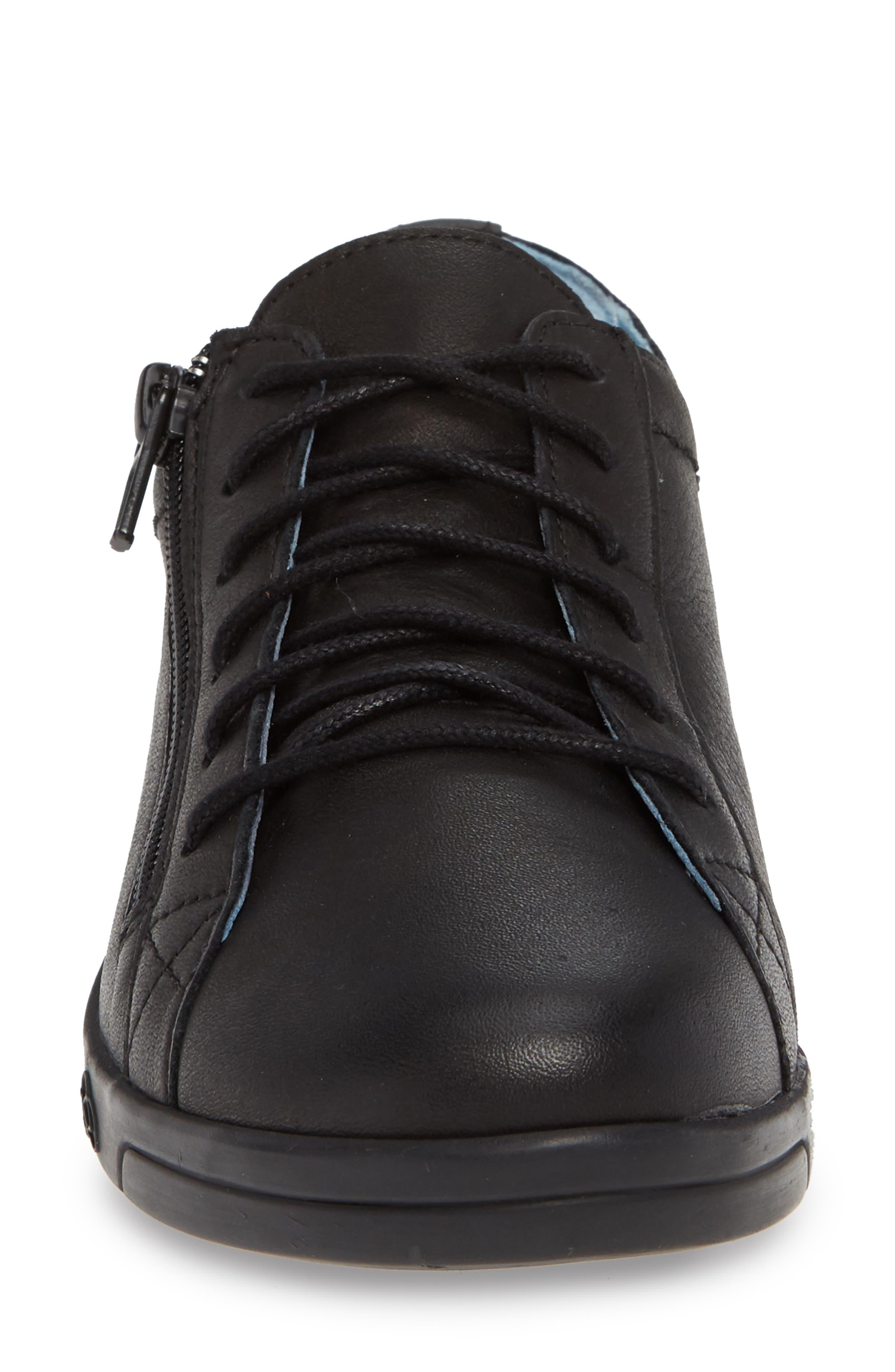 CLOUD, 'Aika' Leather Sneaker, Alternate thumbnail 4, color, 004