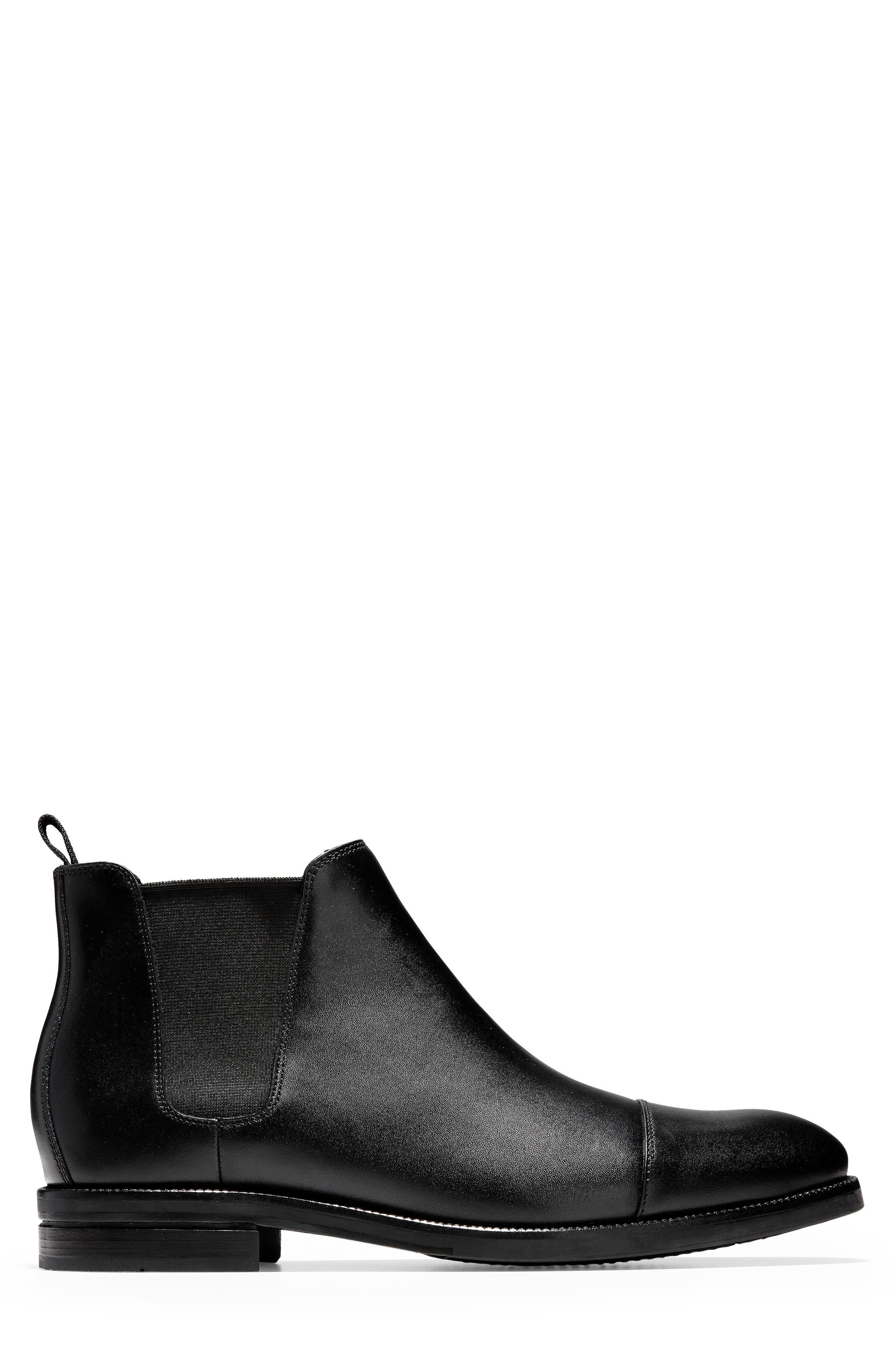 COLE HAAN, Wagner Grand Chelsea Boot, Alternate thumbnail 3, color, 001