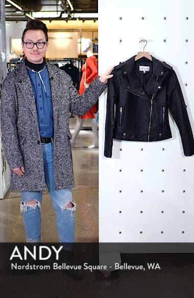 Vivica Faux Leather Jacket, sales video thumbnail