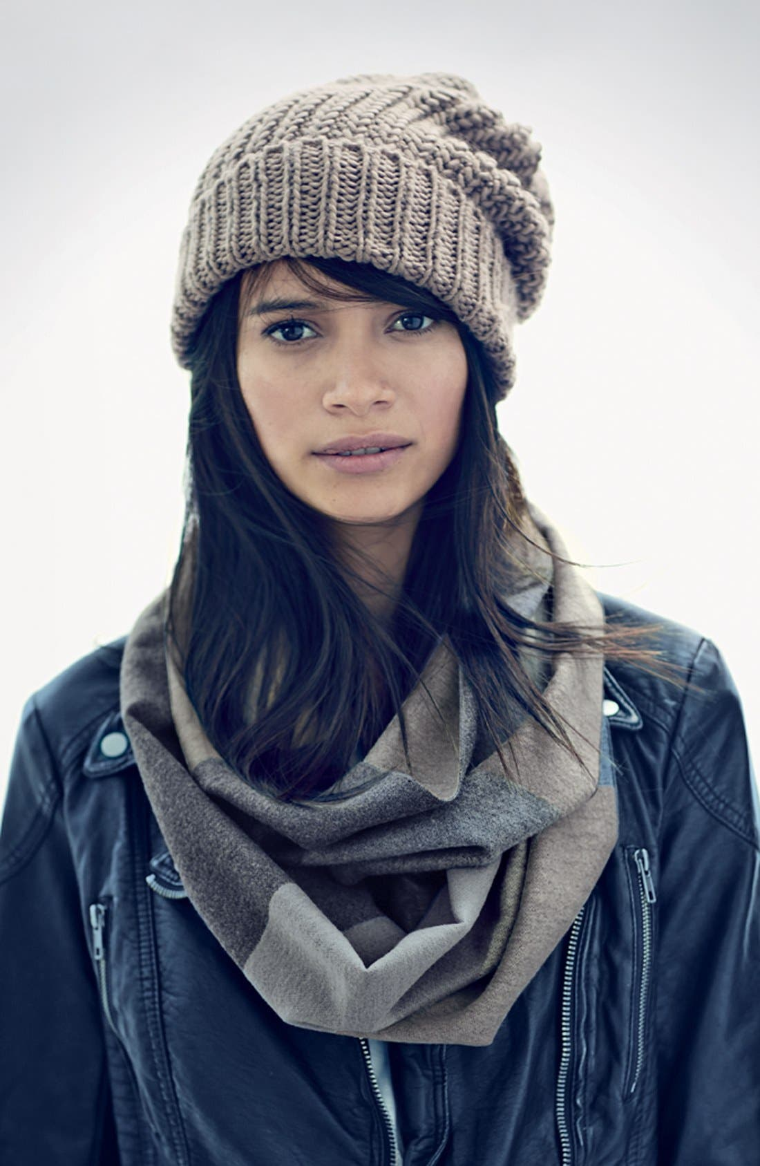 PHASE 3, CHUNKY KNIT BEANIE, Alternate thumbnail 2, color, 301