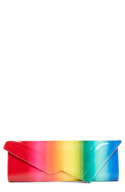 Christian Louboutin Clutch SO KATE RAINBOW LEATHER CLUTCH - RED
