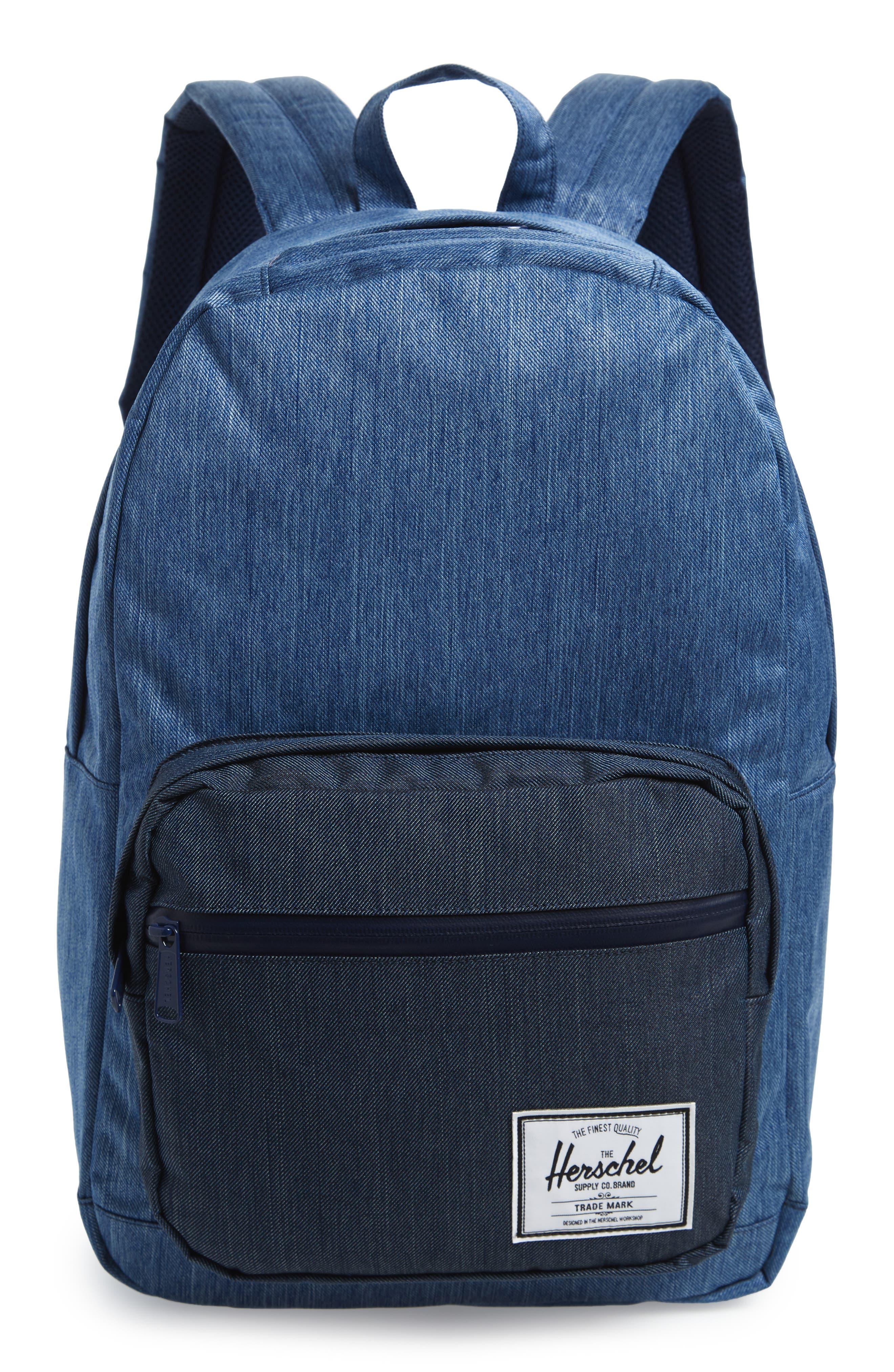 HERSCHEL SUPPLY CO. Pop Quiz Backpack, Main, color, FADED DENIM/ INDIGO DENIM