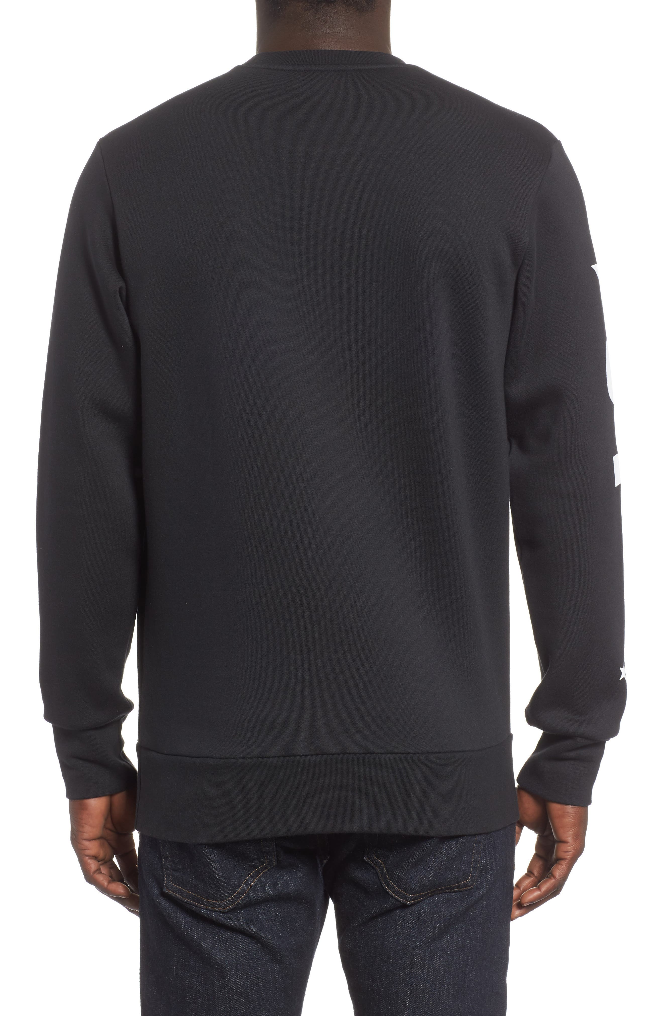 ADIDAS, International Regular Fit Sweatshirt, Alternate thumbnail 2, color, BLACK