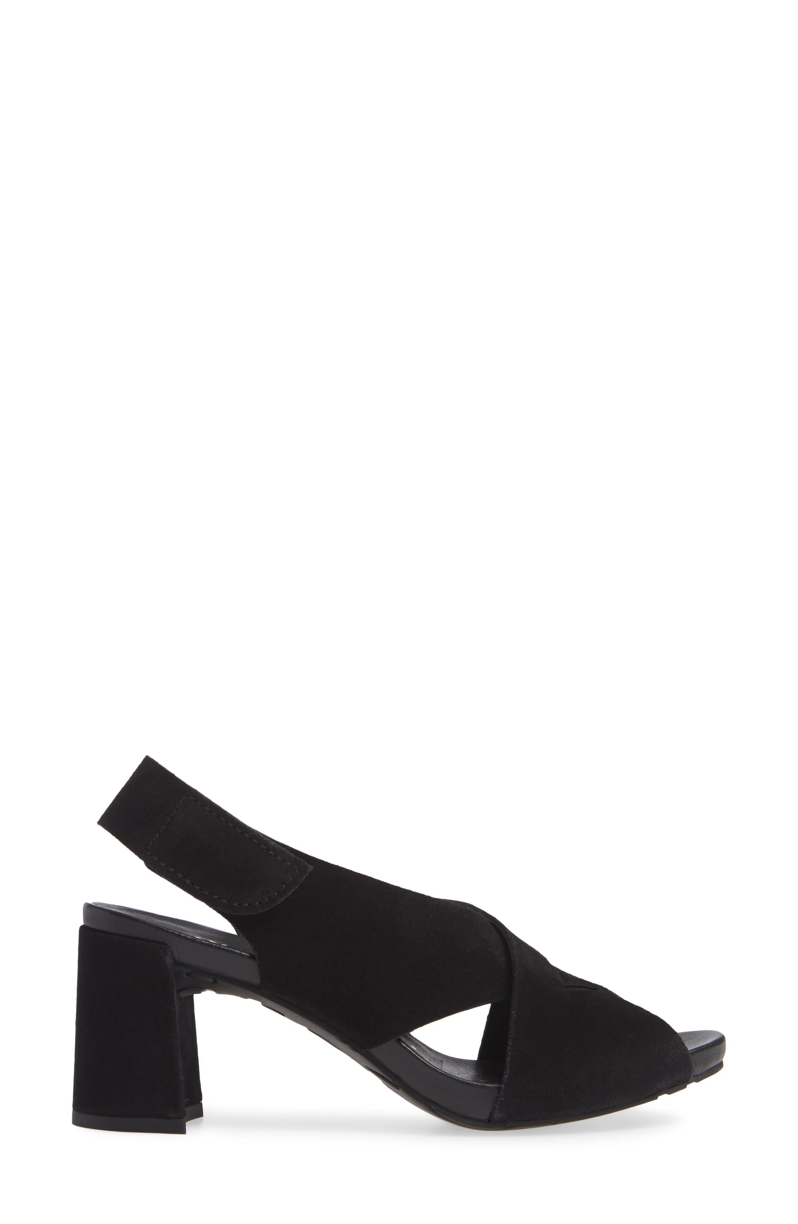 PEDRO GARCIA, Wiela Slingback Sandal, Alternate thumbnail 3, color, BLACK CASTORO