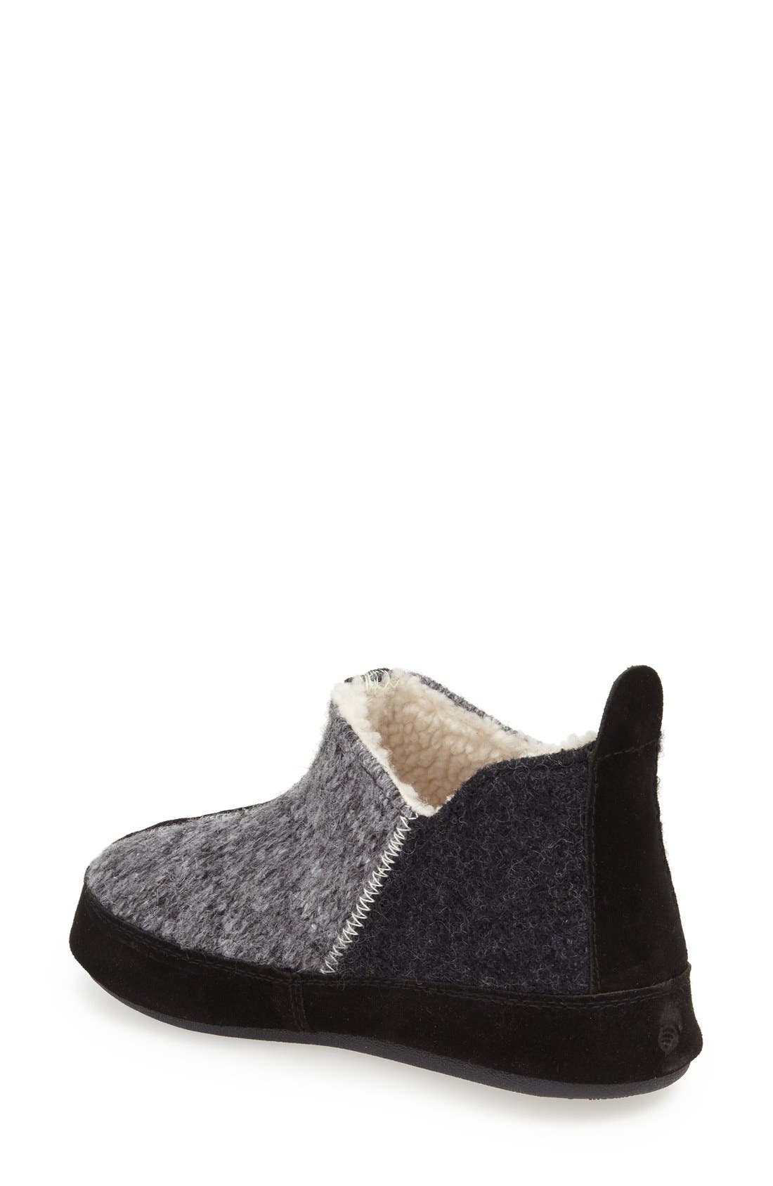 ACORN, 'Forest' Bootie Slipper, Alternate thumbnail 2, color, GREY WOOL