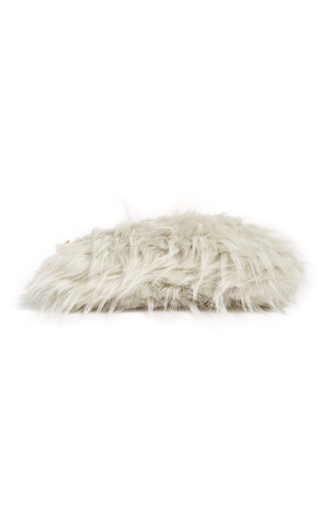 NORDSTROM AT HOME, Cuddle Up Faux Fur Pouch, Alternate thumbnail 4, color, 030