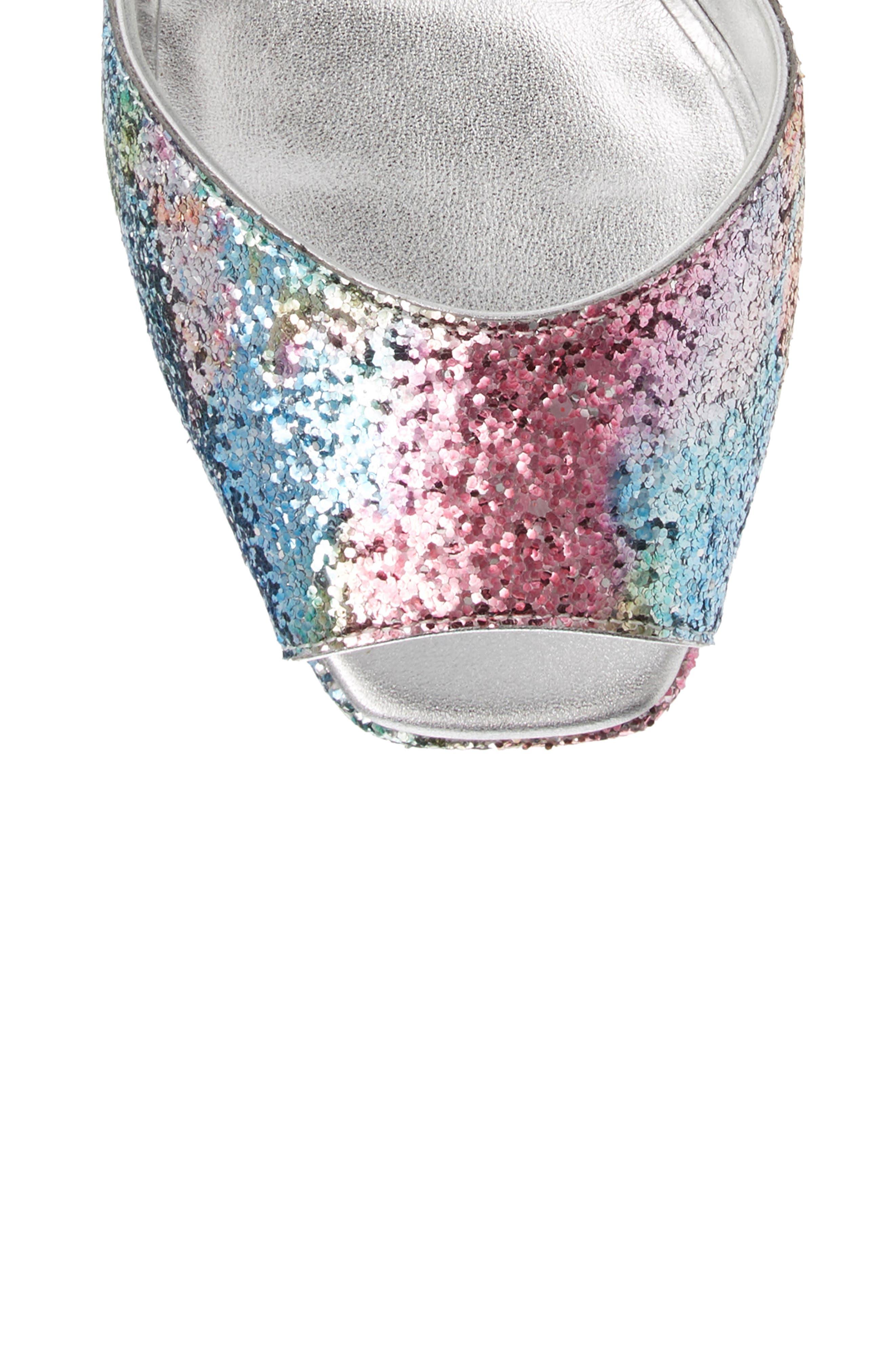 GIUSEPPE ZANOTTI, Lavinia Platform Sandal, Alternate thumbnail 5, color, MULTI GLITTER