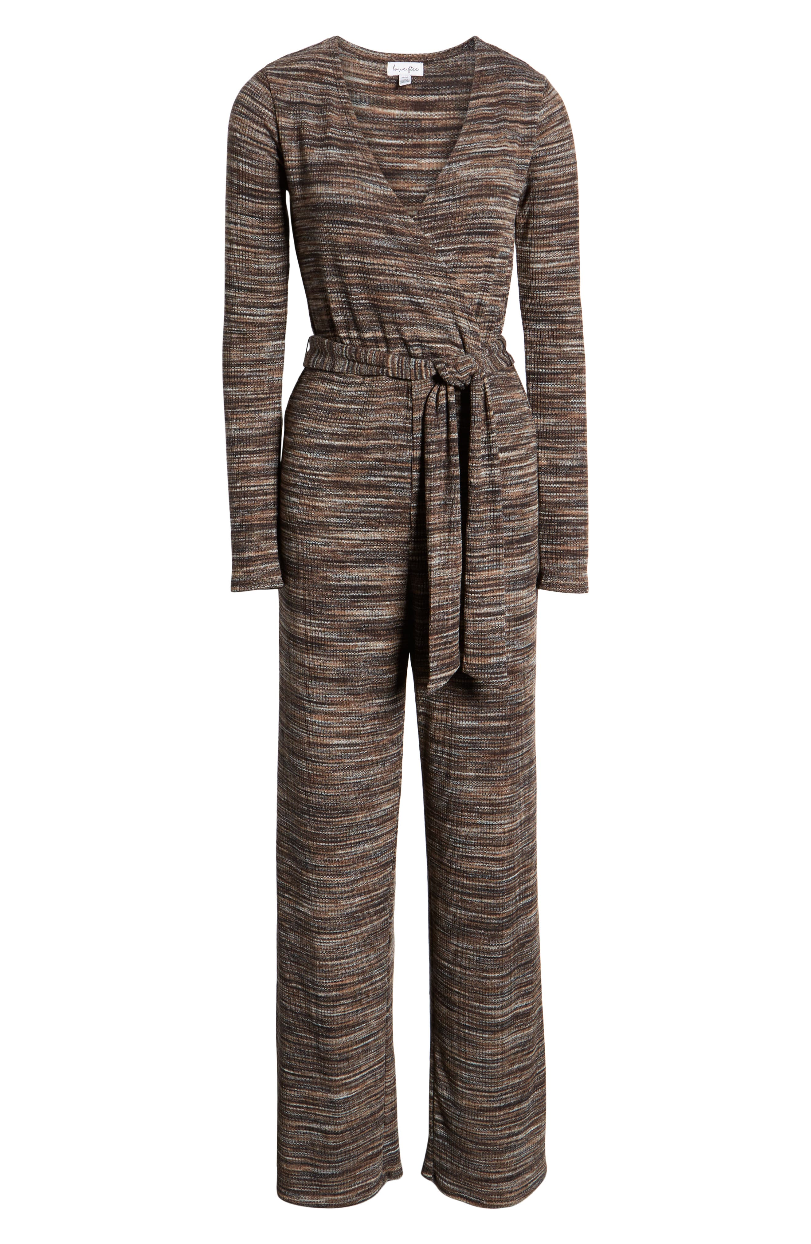 LOVE, FIRE, Belted Stripe Jumpsuit, Alternate thumbnail 7, color, 250