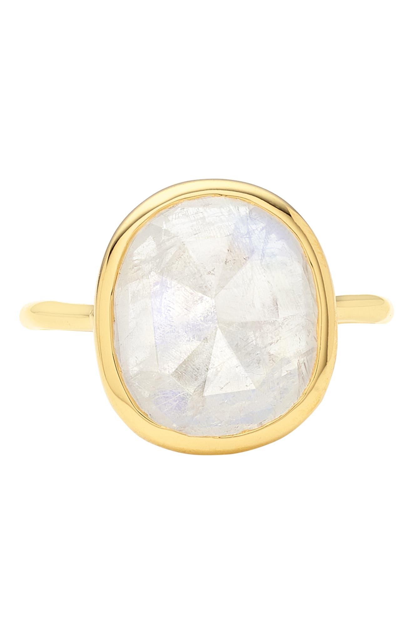 MONICA VINADER, Siren Semiprecious Stone Ring, Alternate thumbnail 4, color, GOLD/ MOONSTONE