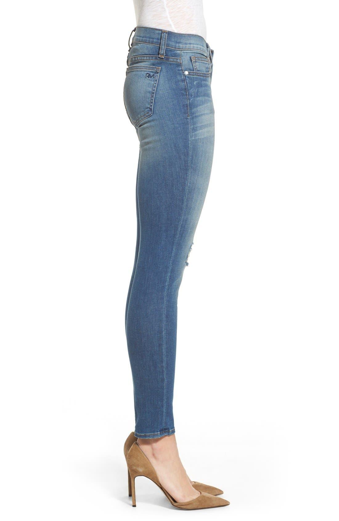 REBECCA MINKOFF, 'Jane' Skinny Jeans, Alternate thumbnail 3, color, 400
