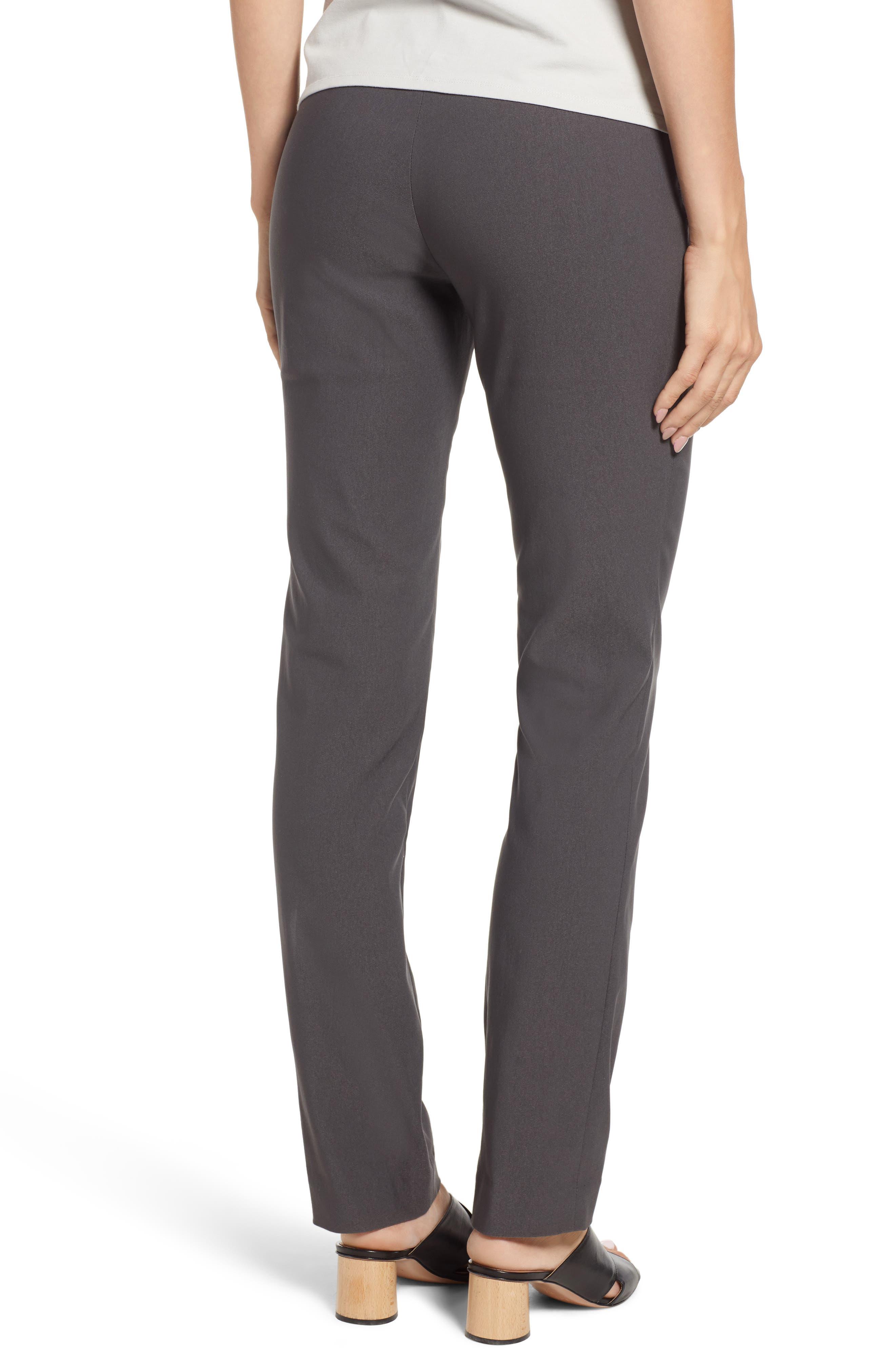 NIC+ZOE, Wonderstretch Slim Leg Pants, Alternate thumbnail 2, color, GRAPHITE