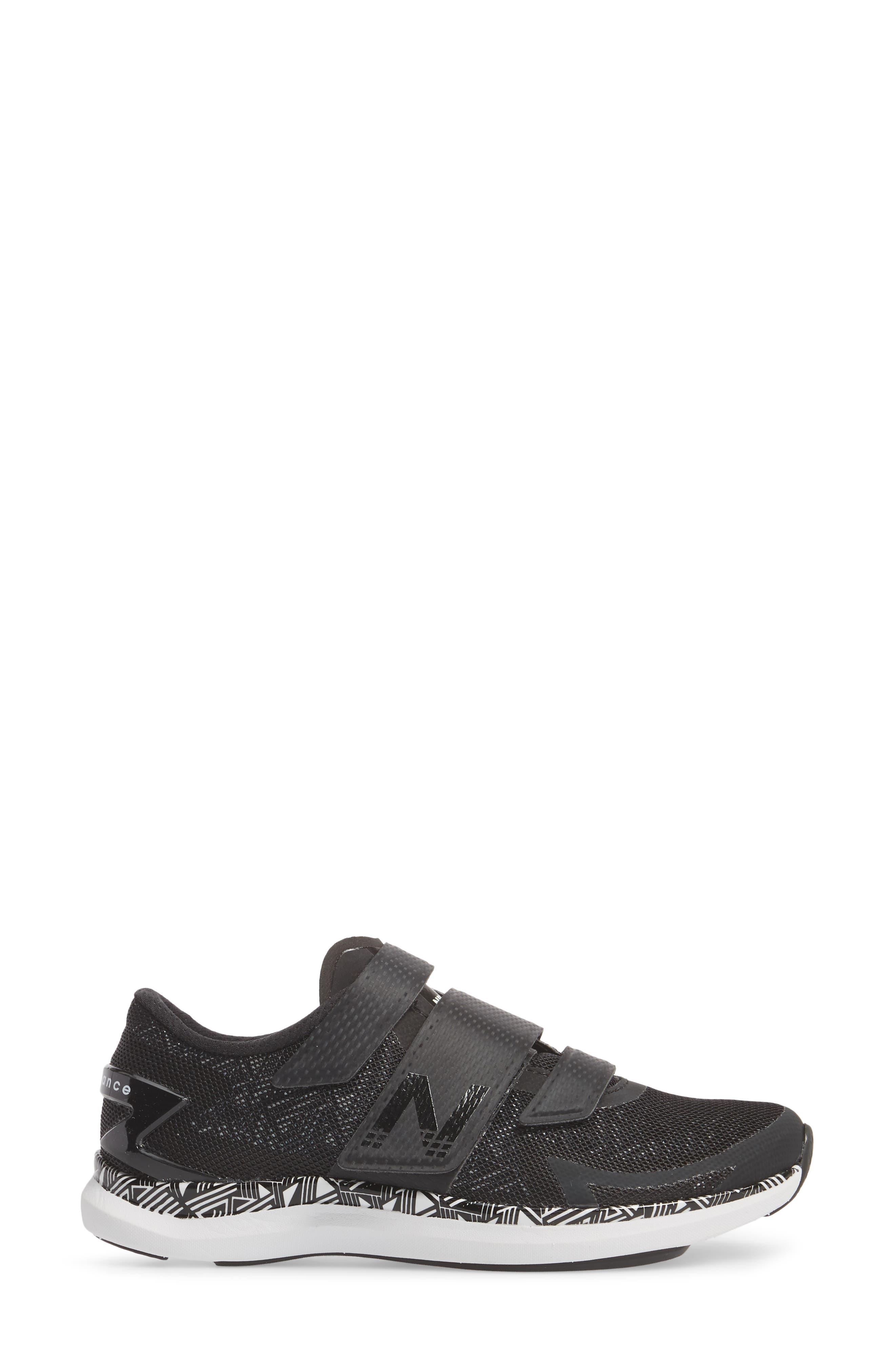 NEW BALANCE, Spin 09 Cycling Shoe, Alternate thumbnail 3, color, BLACK/ WHITE