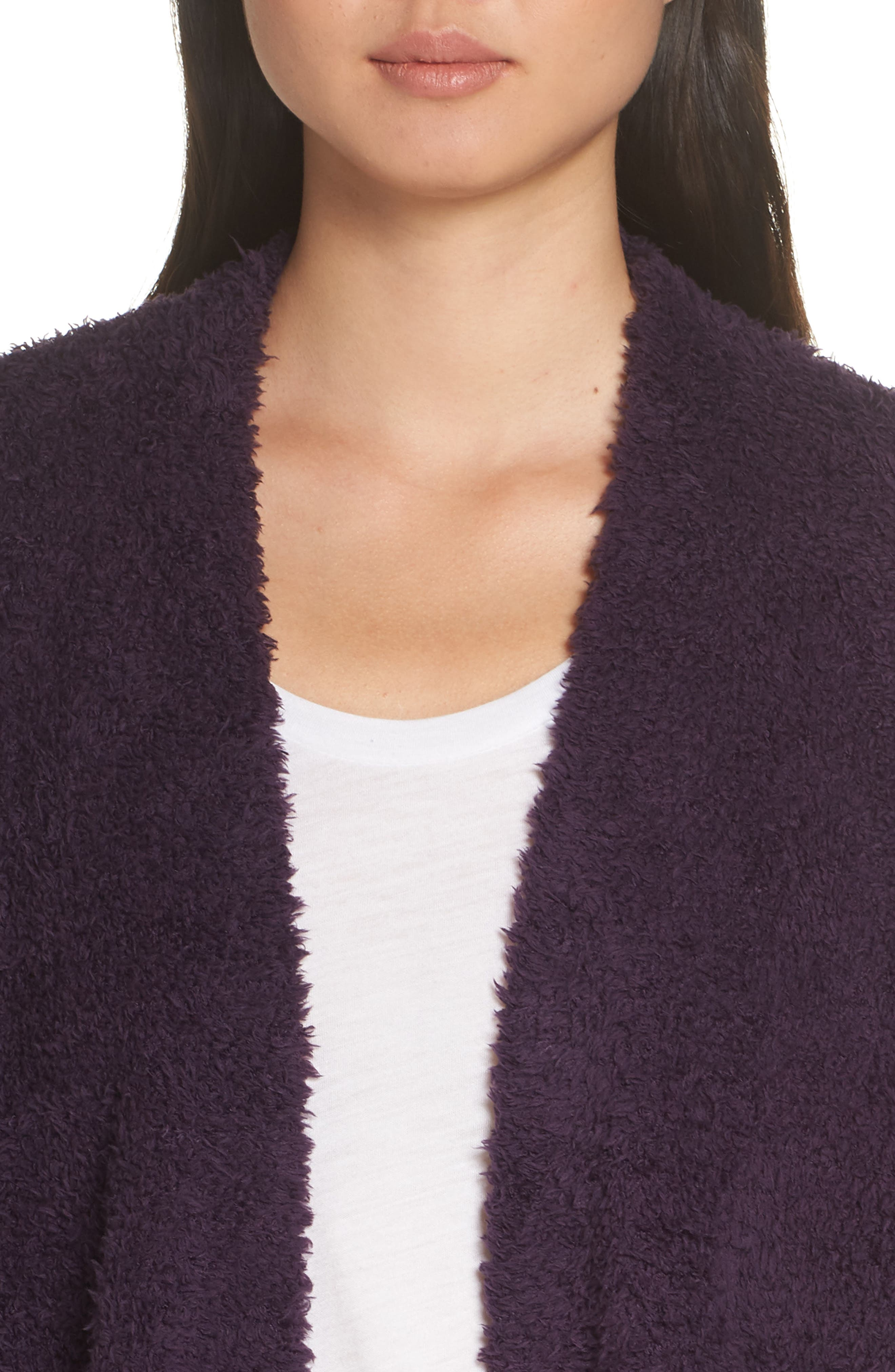 BAREFOOT DREAMS<SUP>®</SUP>, CozyChic<sup>®</sup> Cardigan, Alternate thumbnail 4, color, AMETHYST