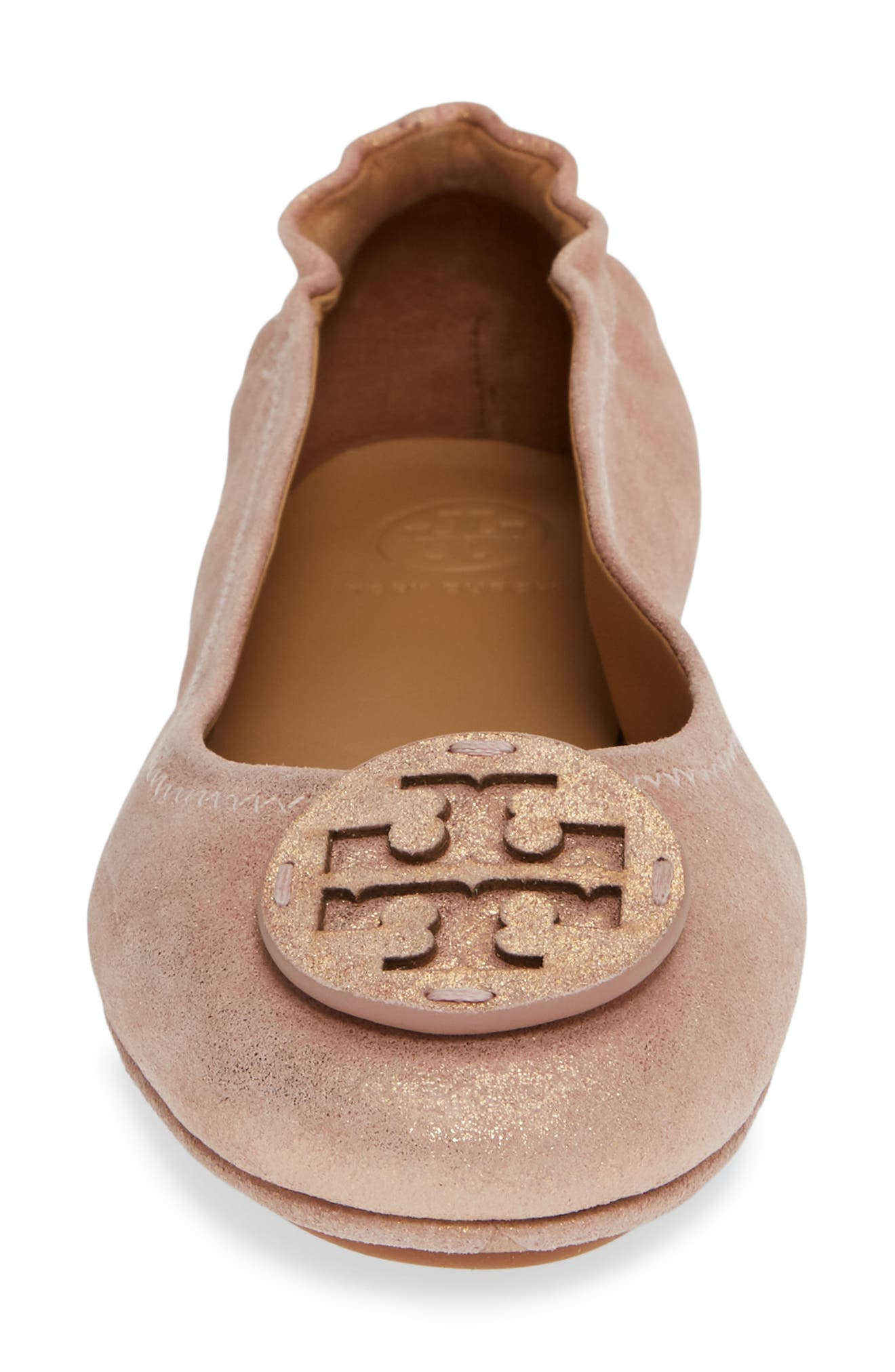 TORY BURCH, Minnie Travel Ballet Flat, Alternate thumbnail 4, color, 654