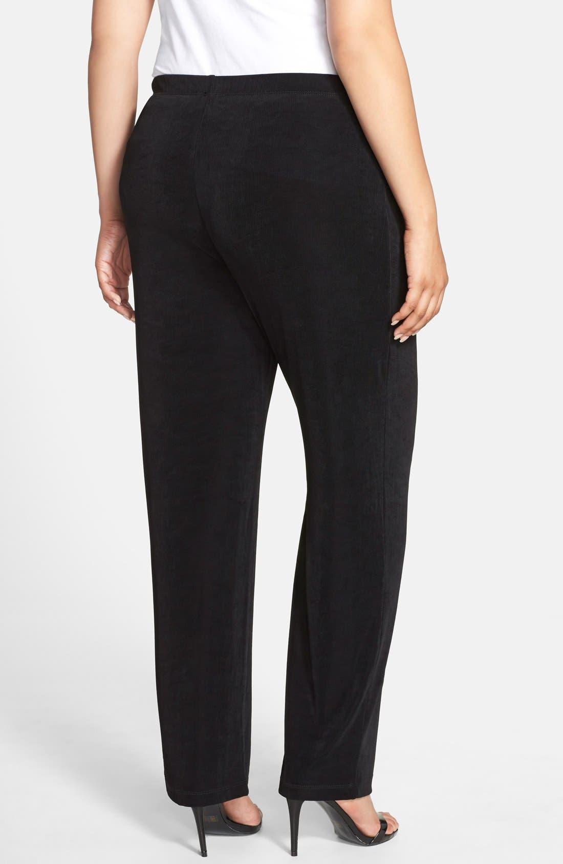 VIKKI VI, High Rise Pull-On Pants, Alternate thumbnail 2, color, BLACK