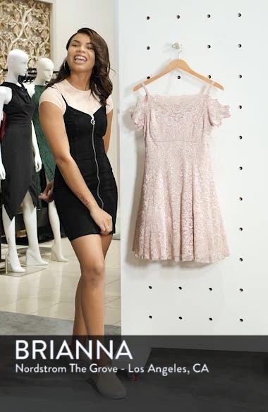 Cold Shoulder Glitter Lace Fit & Flare Dress, sales video thumbnail