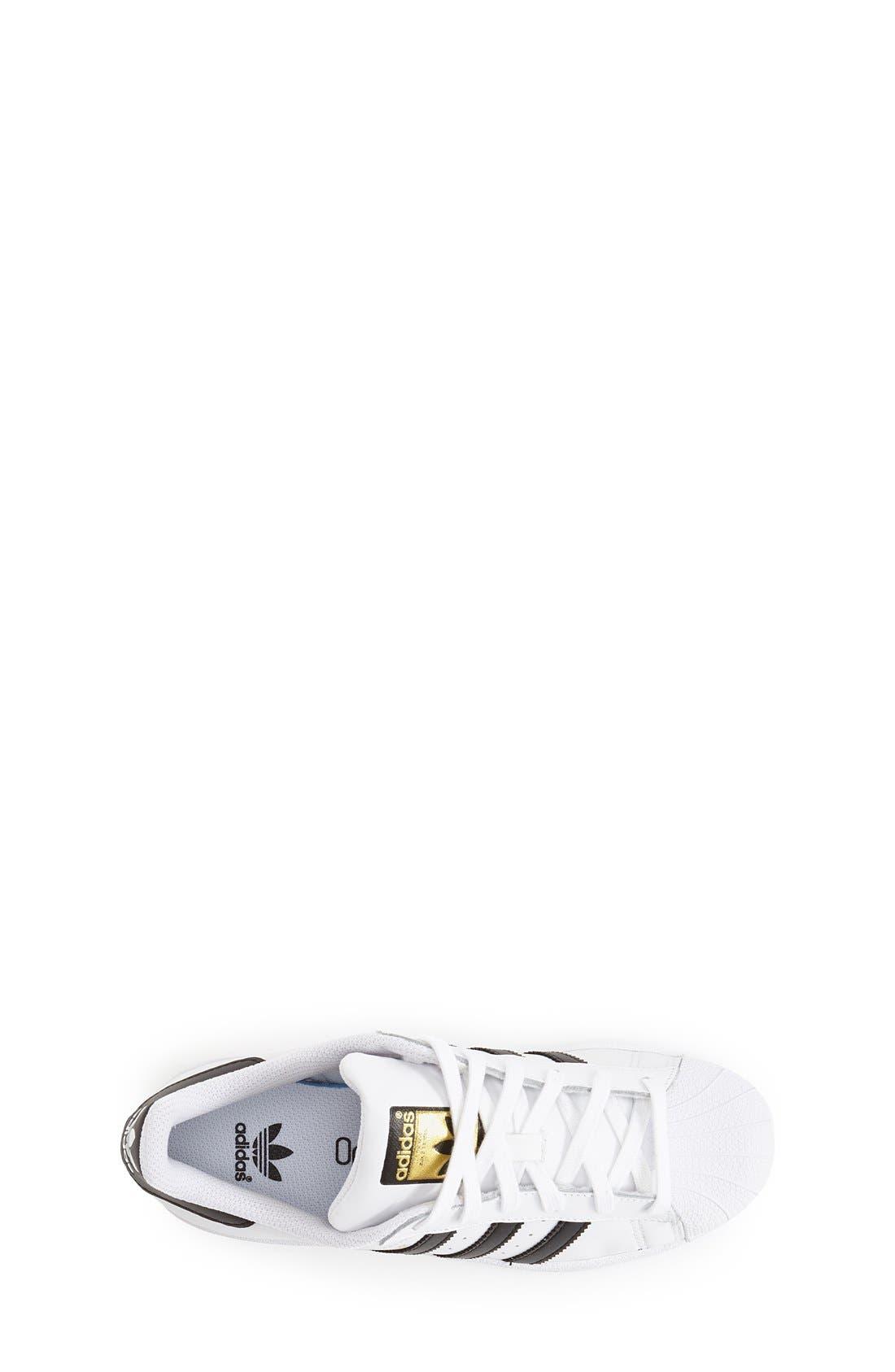 ADIDAS, 'Superstar II' Sneaker, Alternate thumbnail 6, color, WHITE/ BLACK/ WHITE