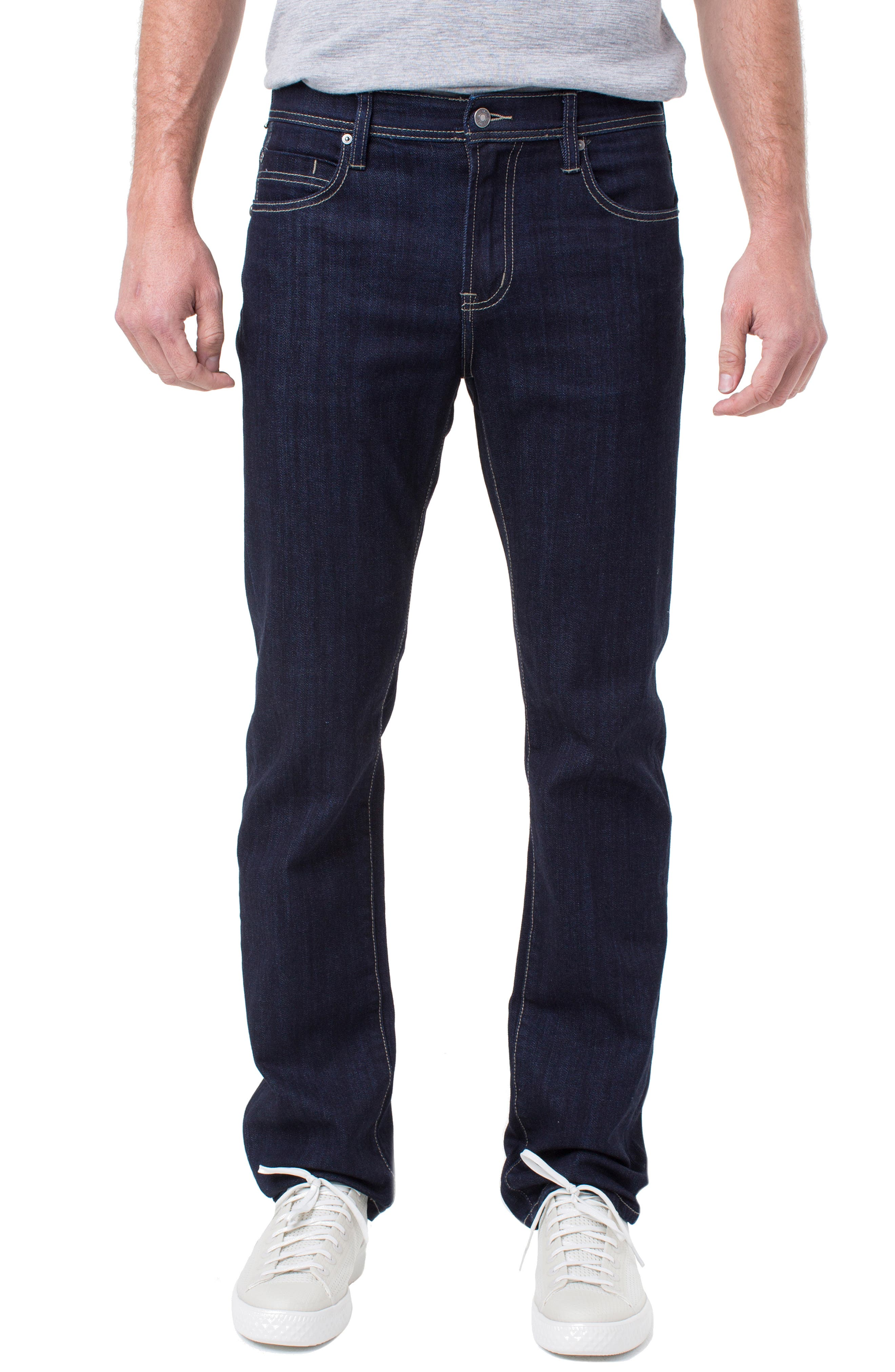 LIVERPOOL, Regent Relaxed Straight Leg Jeans, Main thumbnail 1, color, IND RINSE