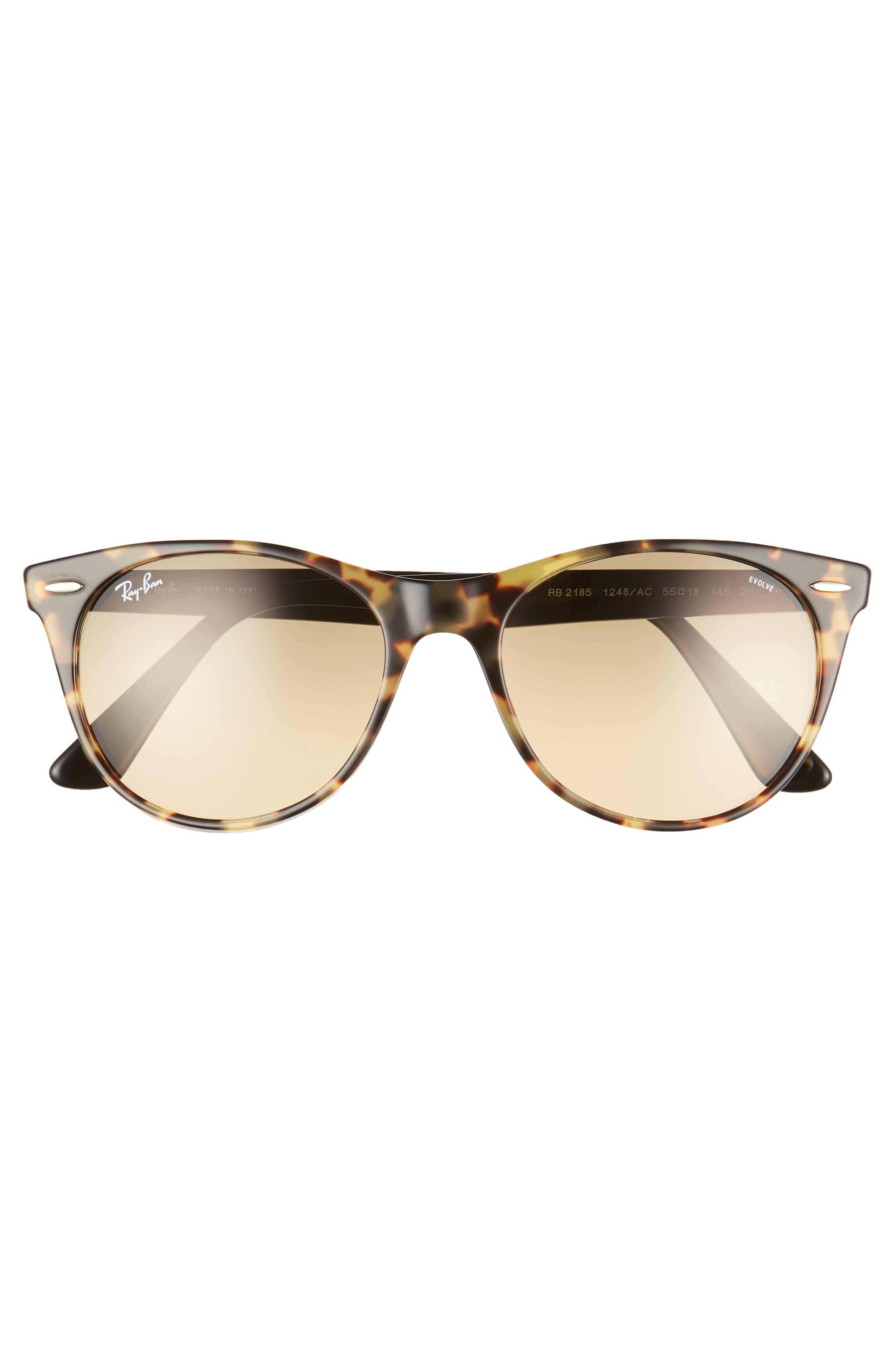 RAY-BAN, Wayfarer II 55mm Polarized Photochromic Sunglasses, Alternate thumbnail 2, color, 200