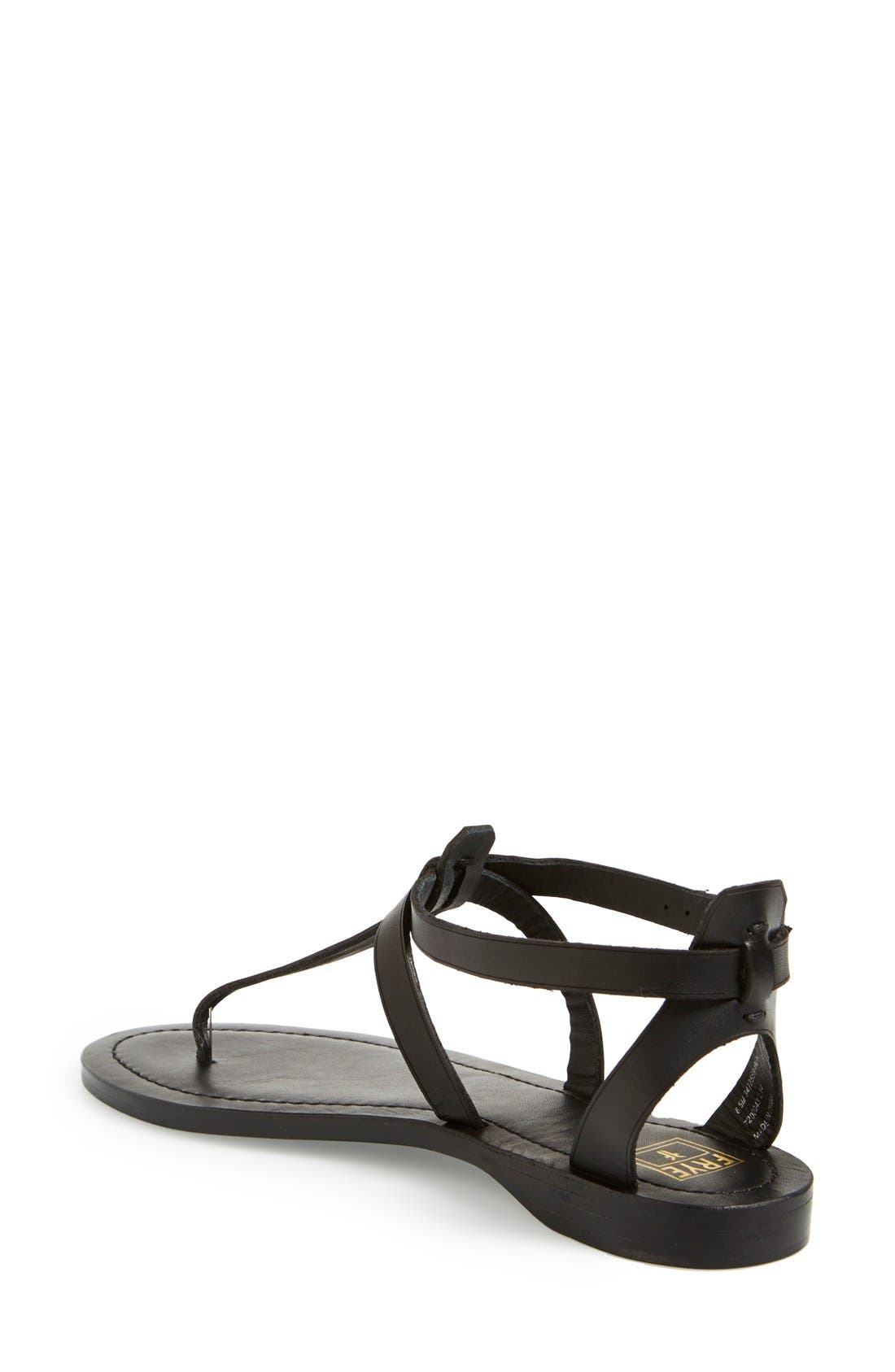 FRYE, 'Rachel' T-Strap Sandal, Alternate thumbnail 2, color, 001