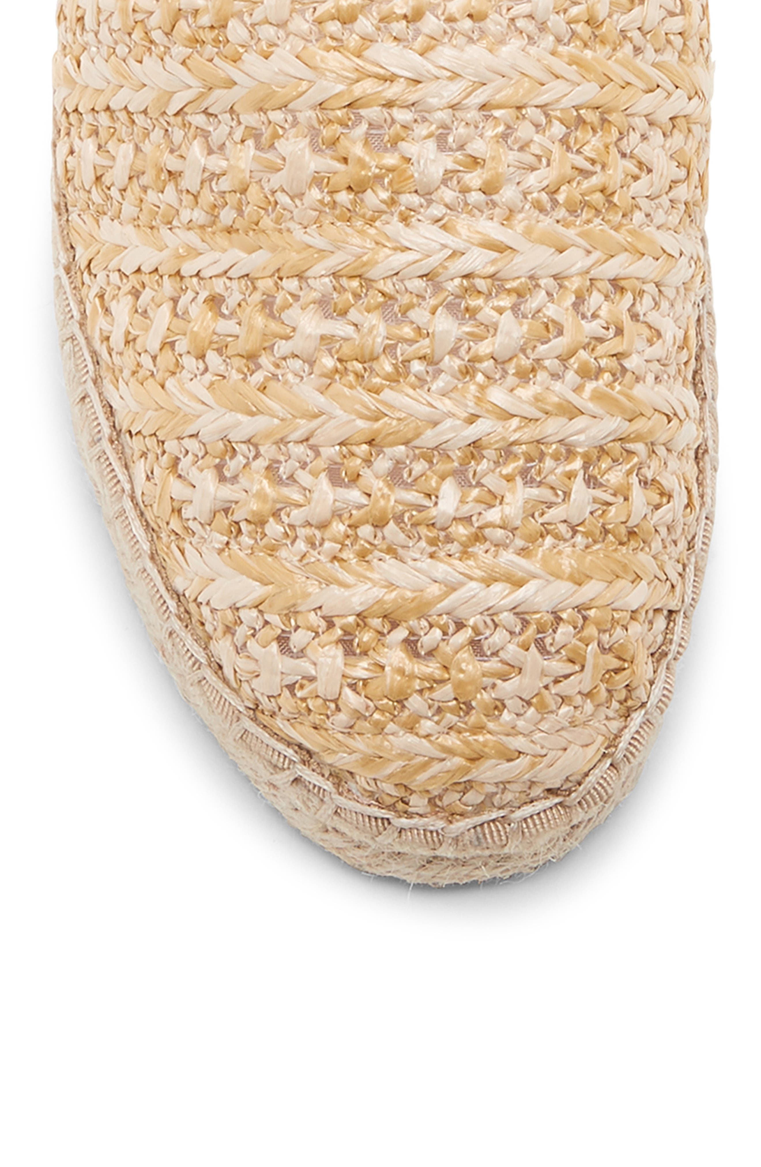 SOLE SOCIETY, Sadelle Espadrille Mule, Alternate thumbnail 8, color, NATURAL FABRIC