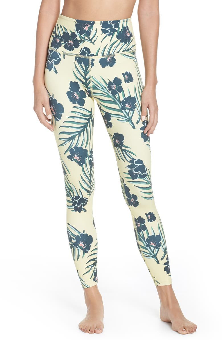 a587c775f1 BEYOND YOGA High Waist Print Leggings, Main, color, FLORAL SUNRISE