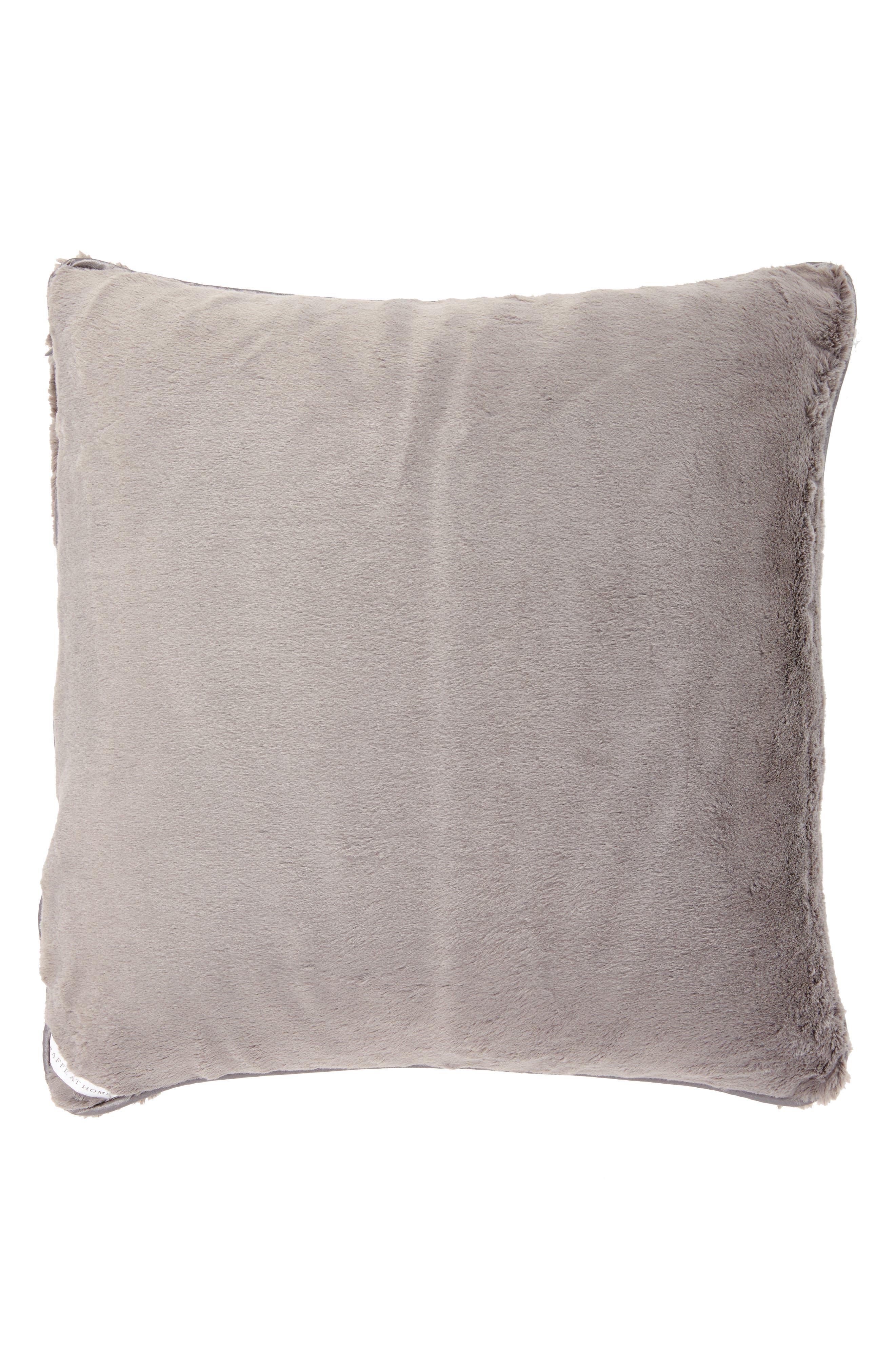 GIRAFFE AT HOME, 'Luxe' Throw Pillow, Main thumbnail 1, color, CHARCOAL