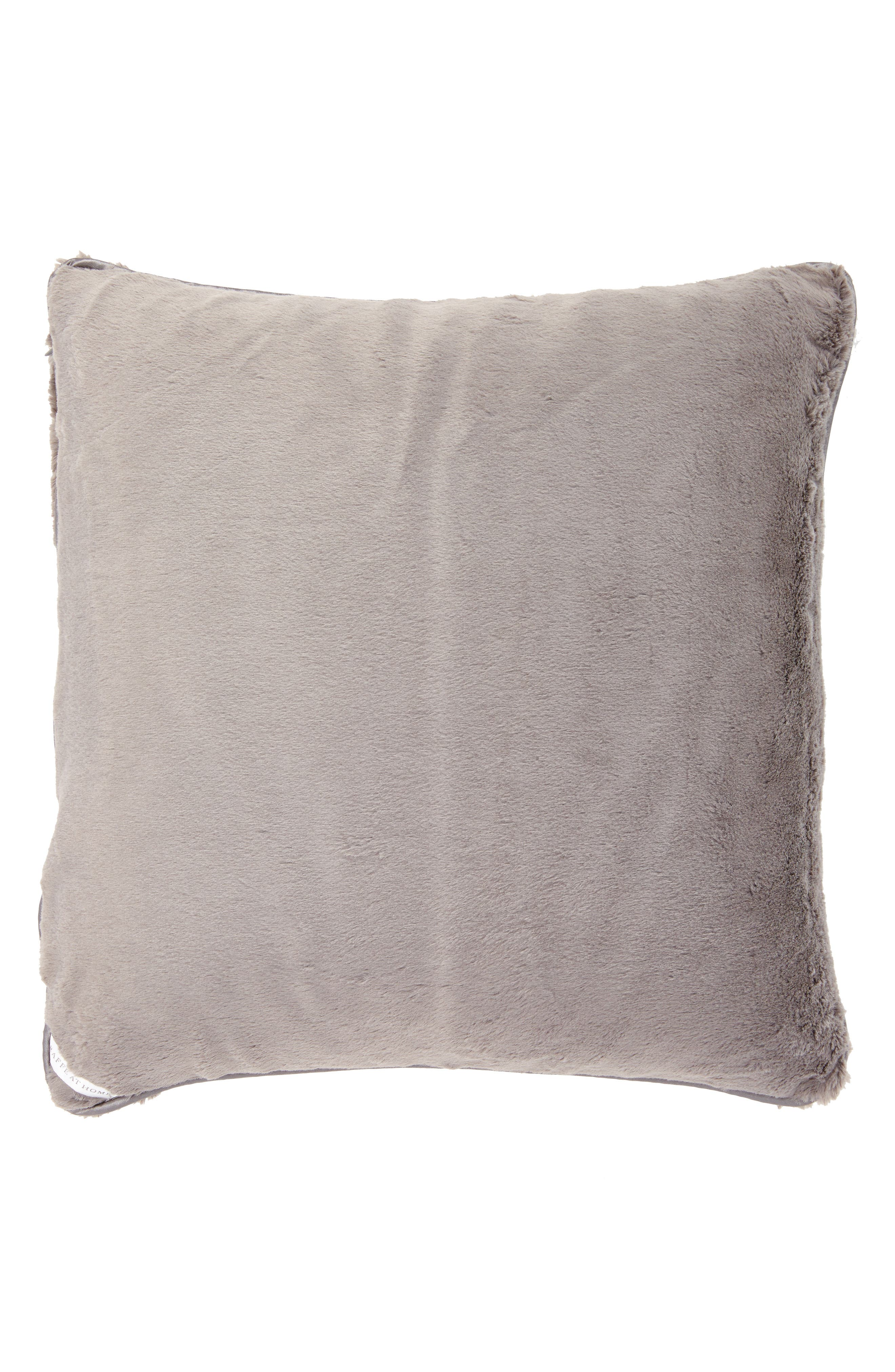 GIRAFFE AT HOME 'Luxe' Throw Pillow, Main, color, CHARCOAL