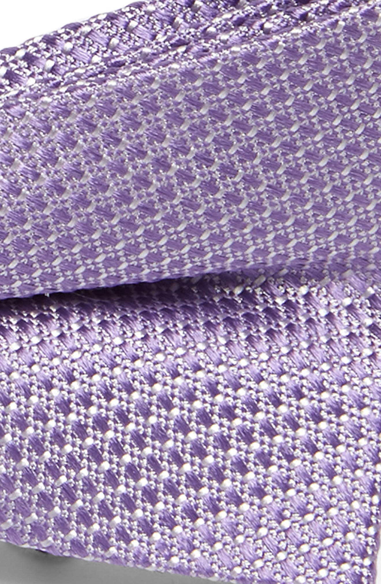 NORDSTROM, Andrew Solid Silk Bow Tie, Alternate thumbnail 2, color, LILAC