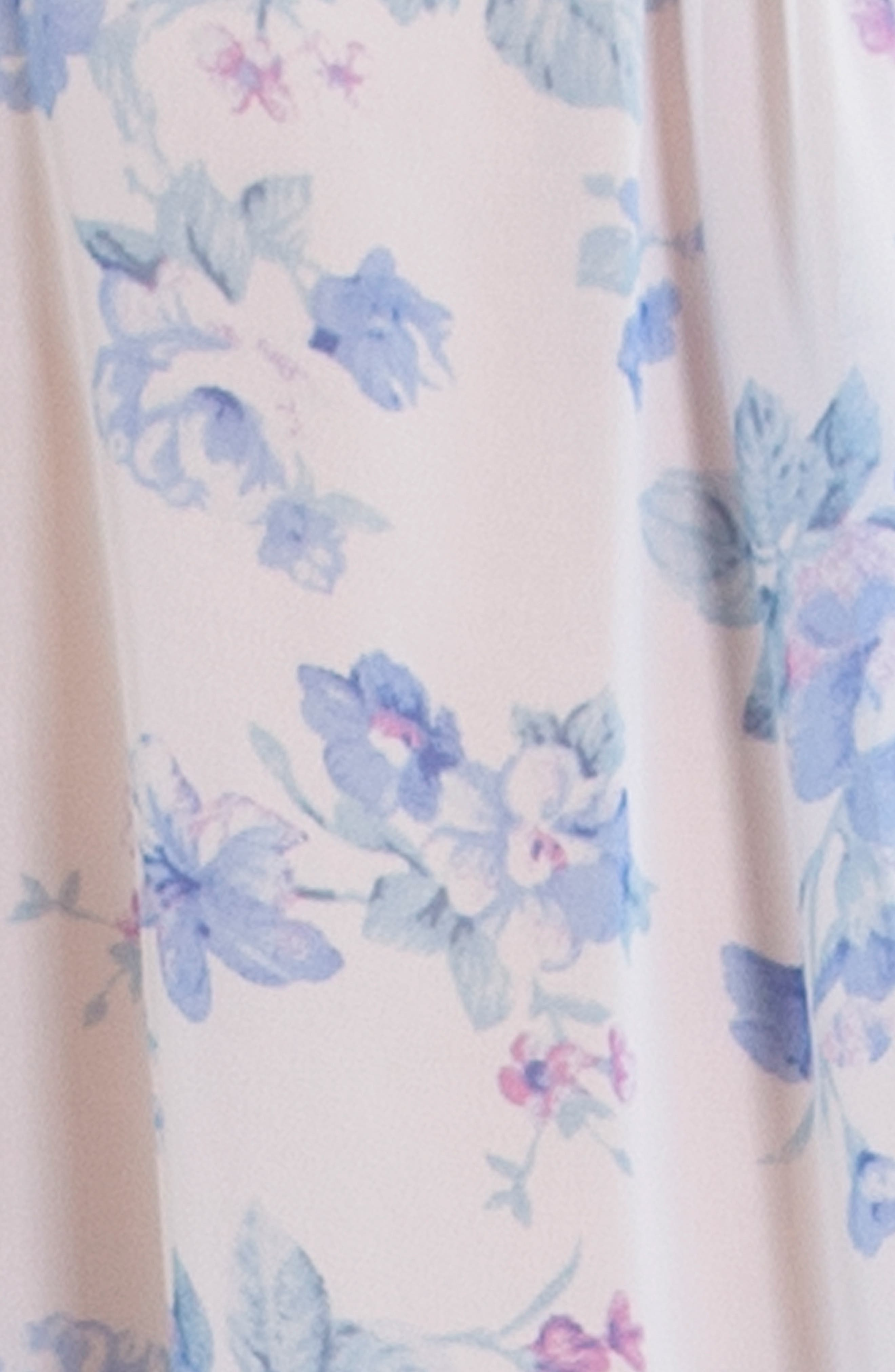 IN BLOOM BY JONQUIL, Chiffon Short Pajamas, Alternate thumbnail 4, color, BLUE/ IVORY