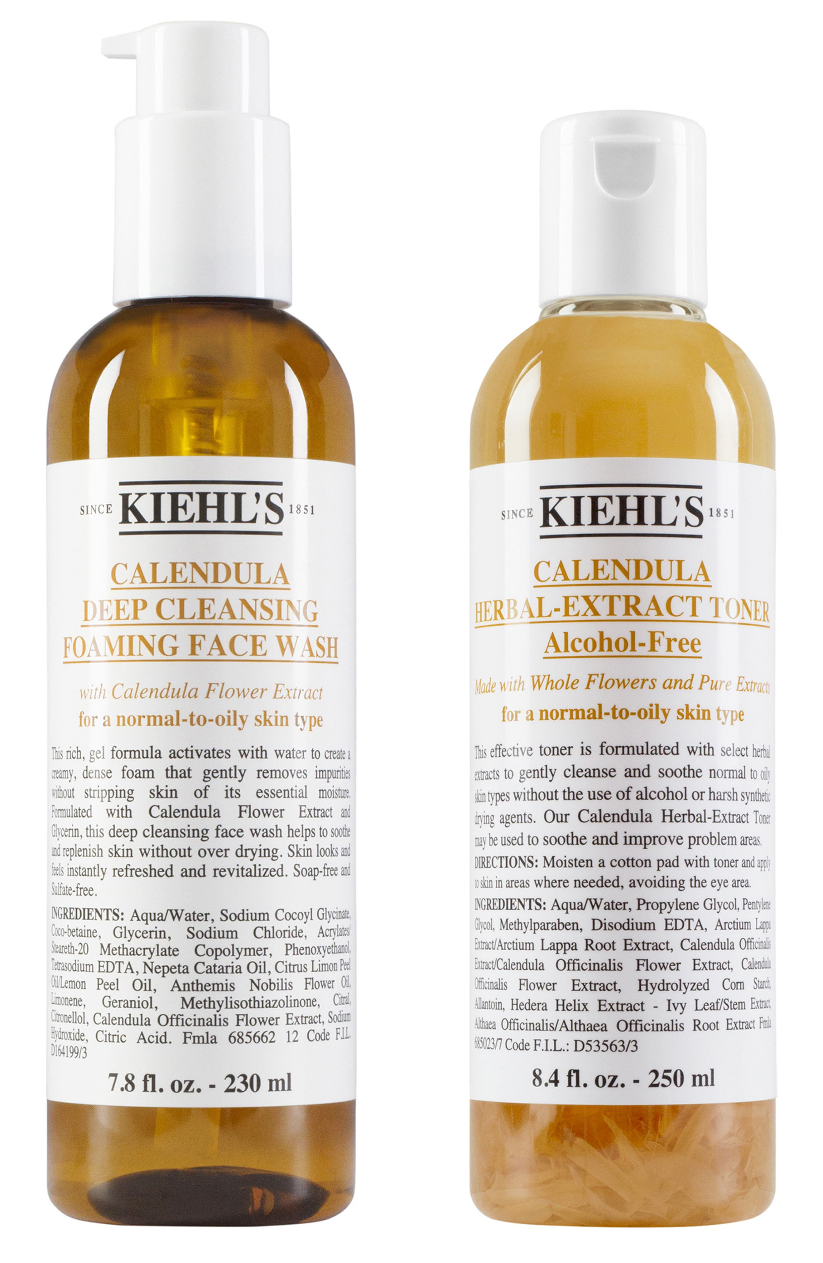 KIEHL'S SINCE 1851 Calendula Foaming Wash and Toner Duo, Main, color, NO COLOR