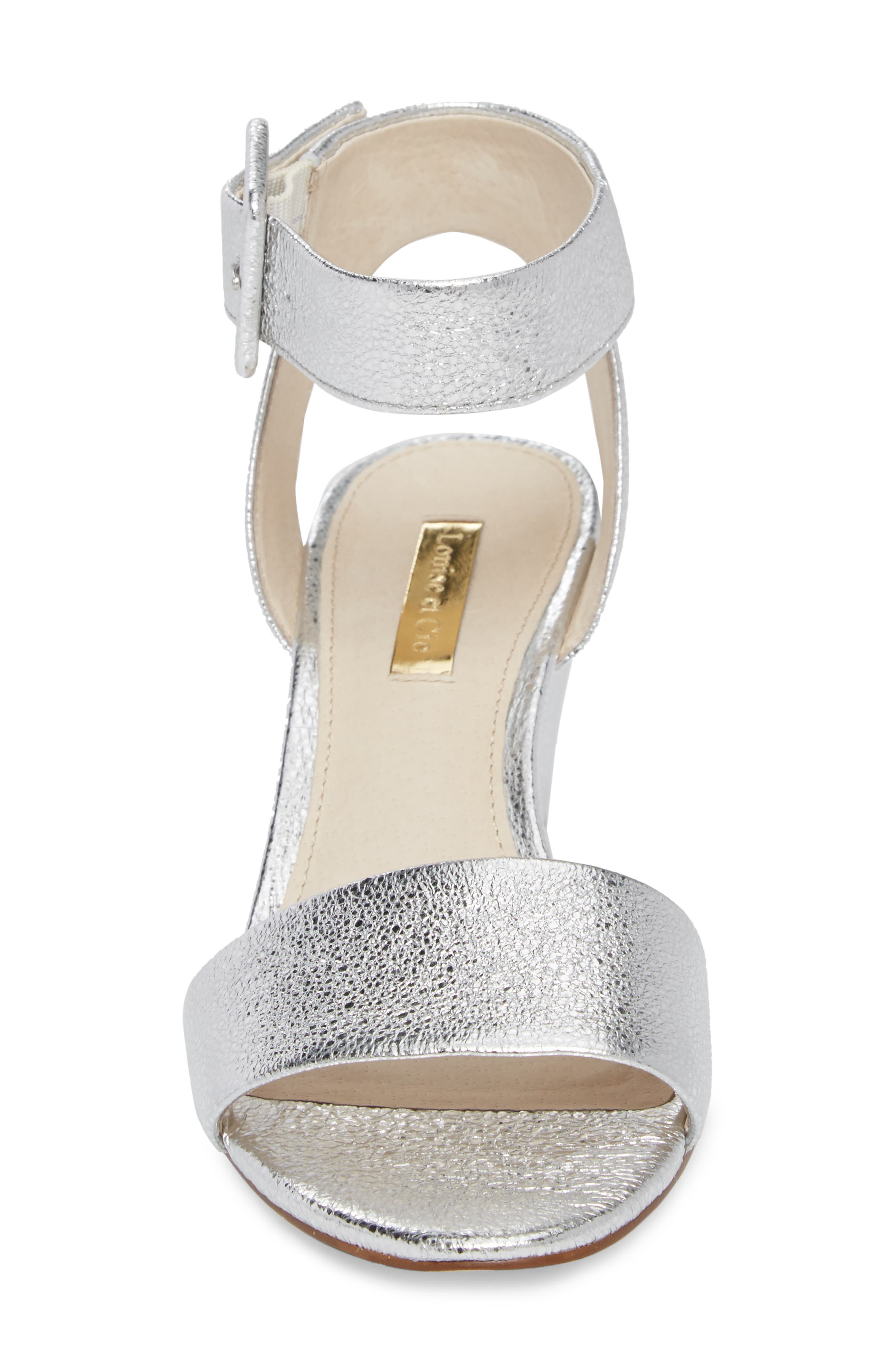 LOUISE ET CIE, Punya Wedge Sandal, Alternate thumbnail 4, color, STERLING LEATHER