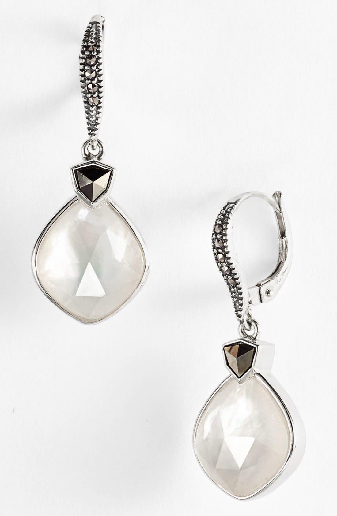 JUDITH JACK, 'Pearl Romance' Drop Earrings, Main thumbnail 1, color, 040