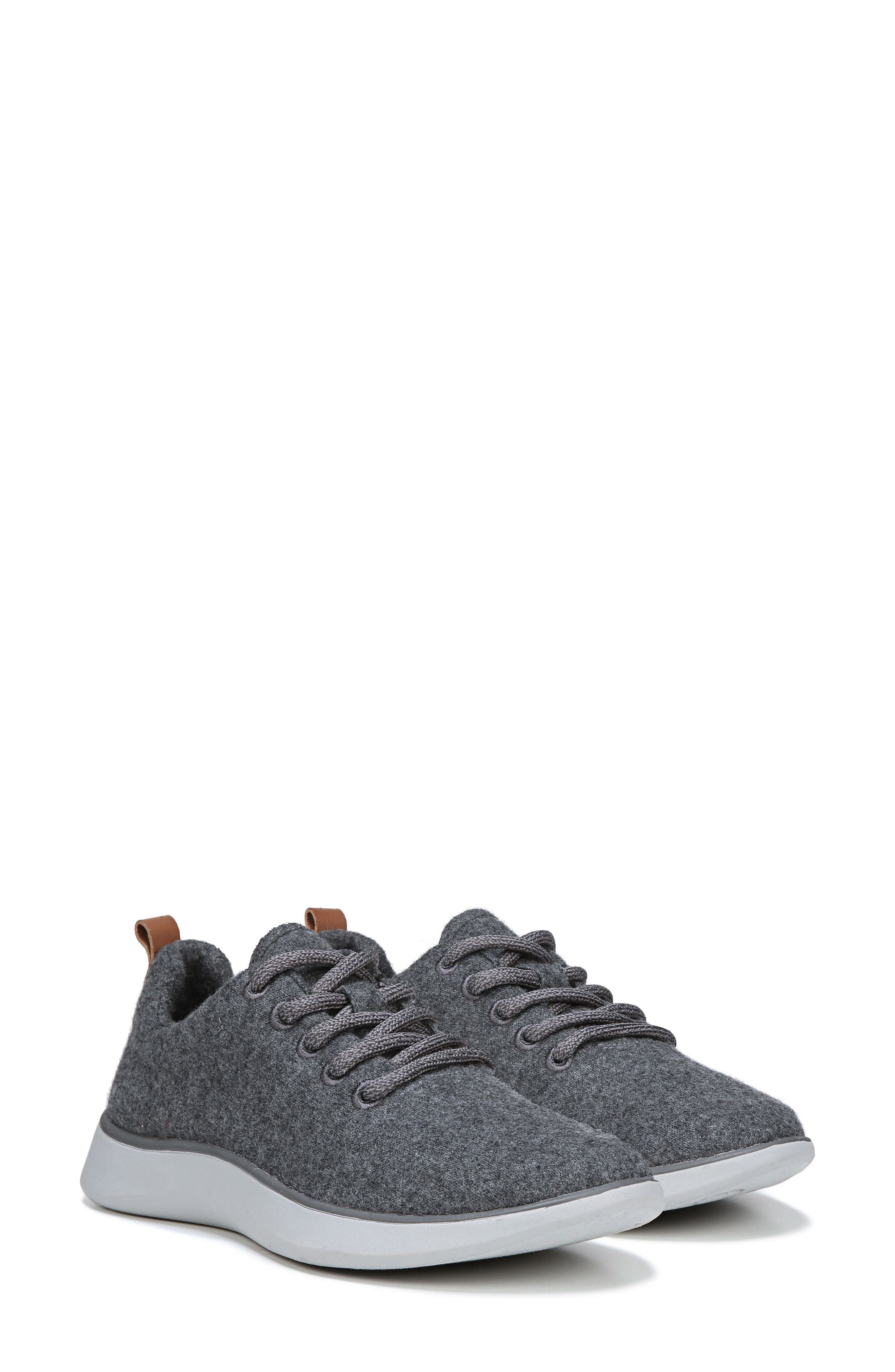 DR. SCHOLL'S, Freestep Sneaker, Alternate thumbnail 5, color, DARK GREY FABRIC